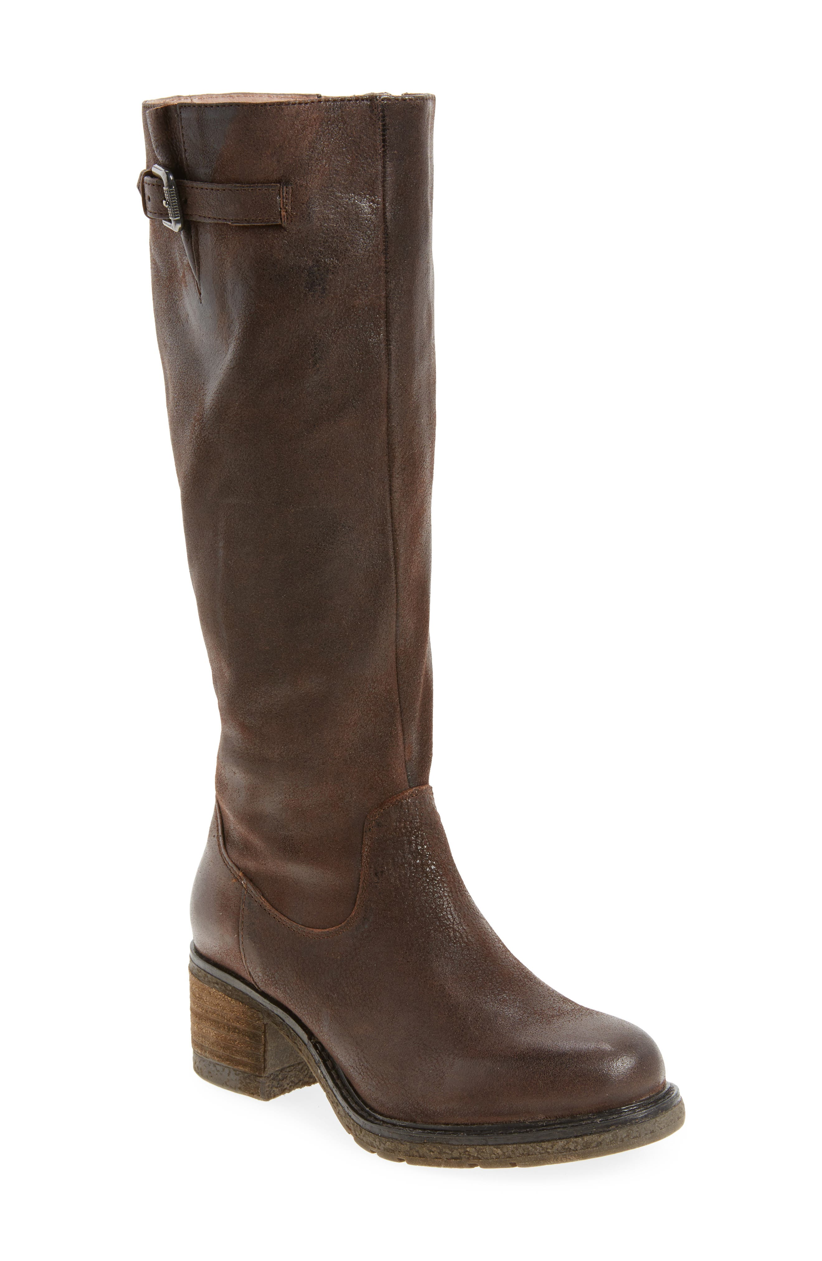 Exit Tall Boot,                             Main thumbnail 1, color,                             Brown Leather