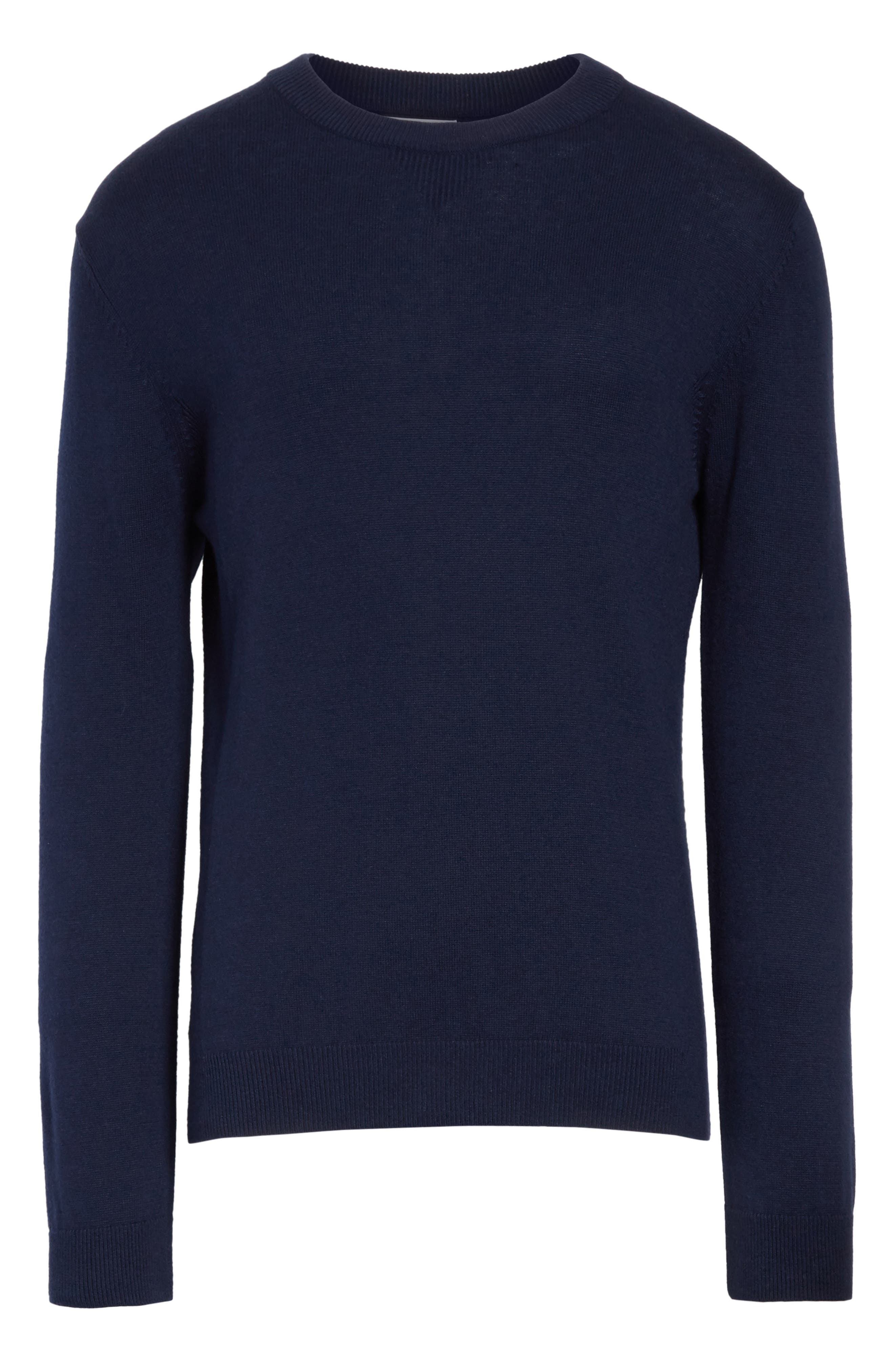Everyday Classic Crewneck Sweater,                             Alternate thumbnail 6, color,                             Midnight