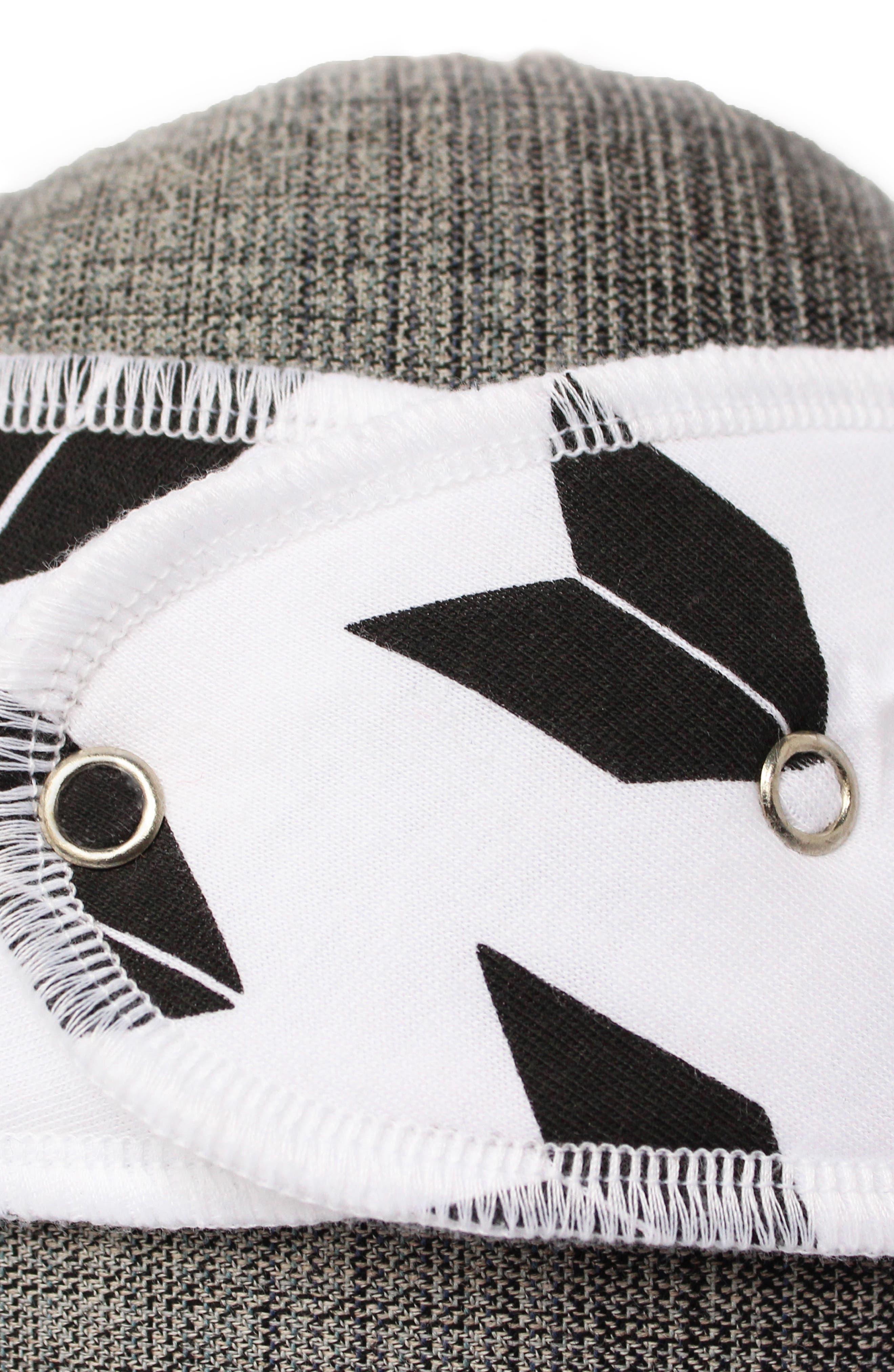 Alternate Image 5  - Copper Pearl Shade Bib, Burp Cloth & Swaddle Blanket Gift Set