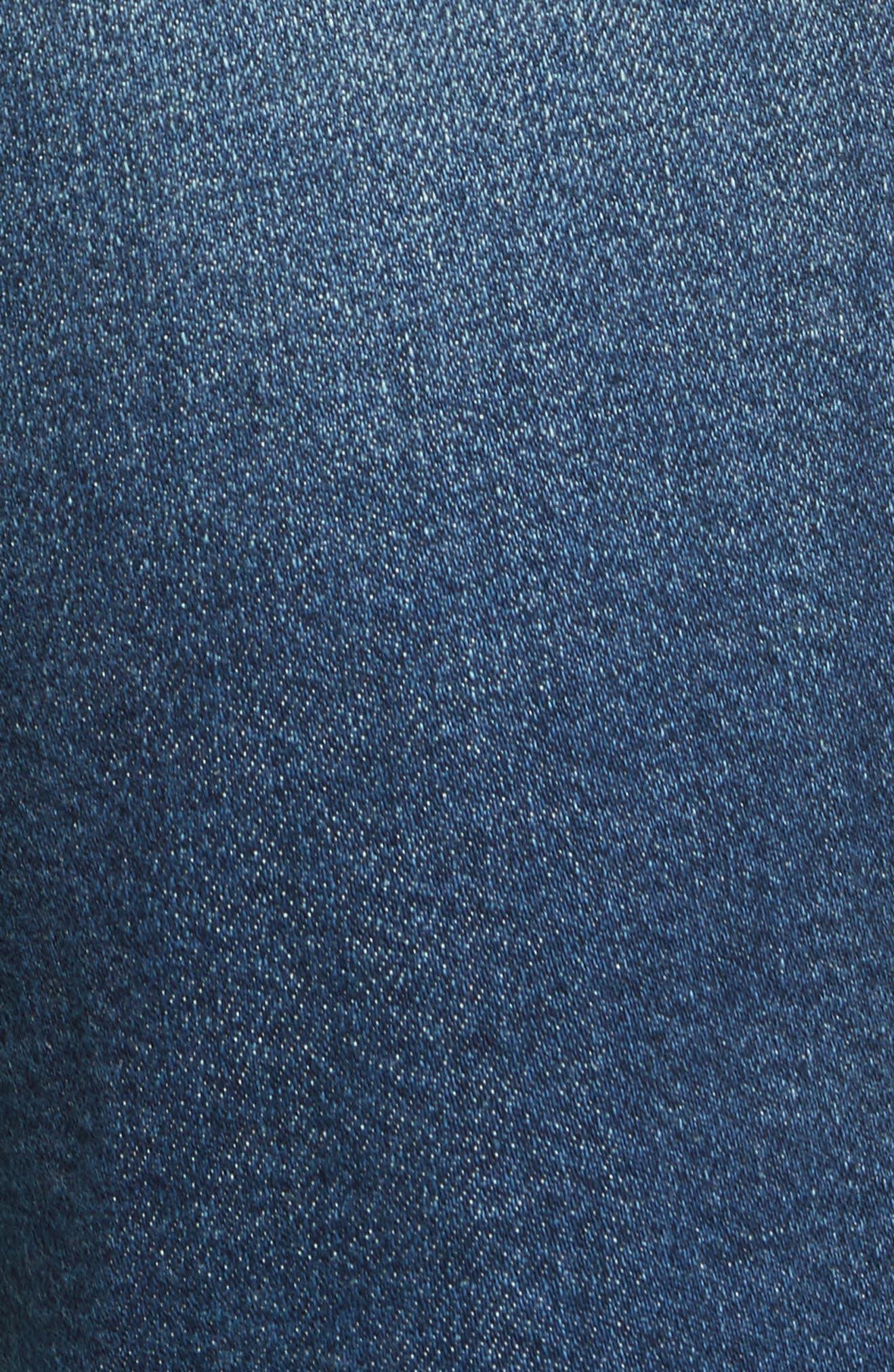 High Waist Released Hem Crop Jeans,                             Alternate thumbnail 6, color,                             Granby