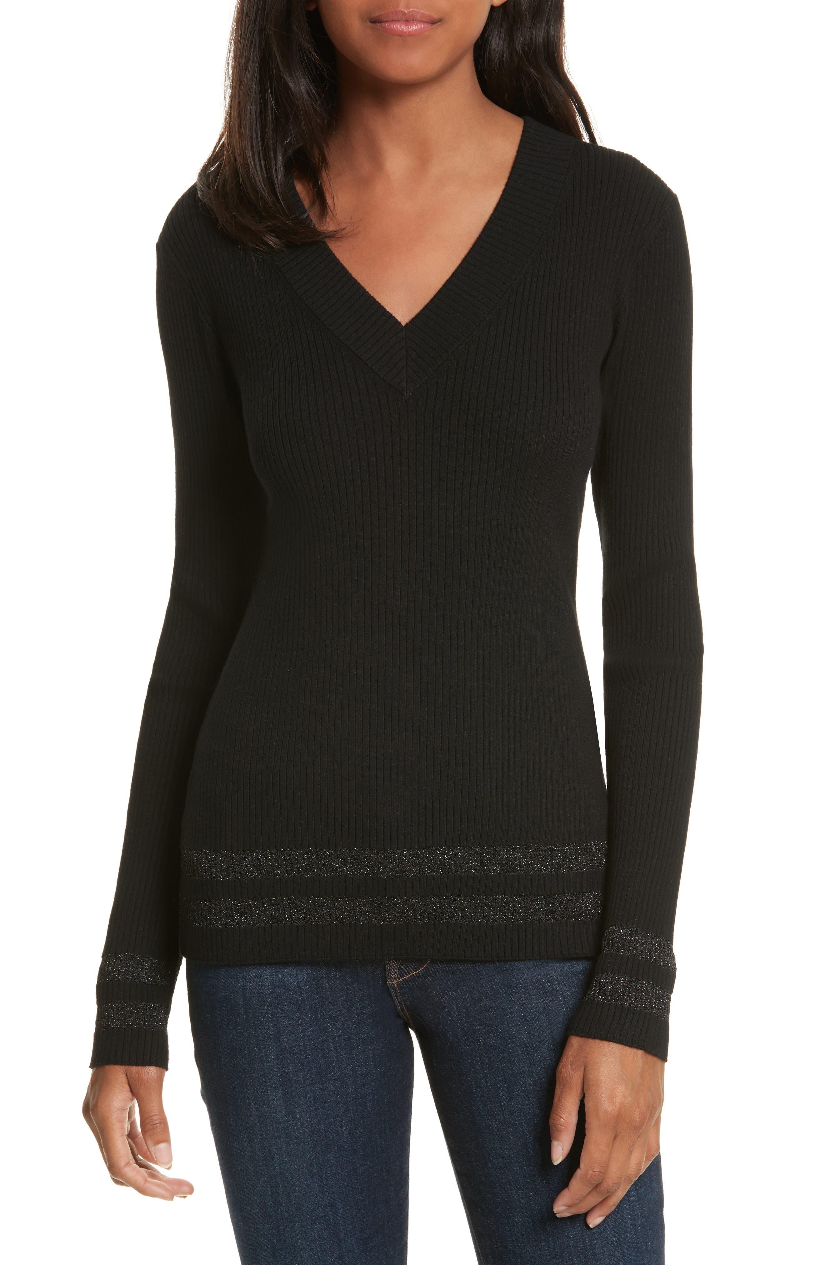 Alternate Image 1 Selected - FRAME Metallic Knit Sweater