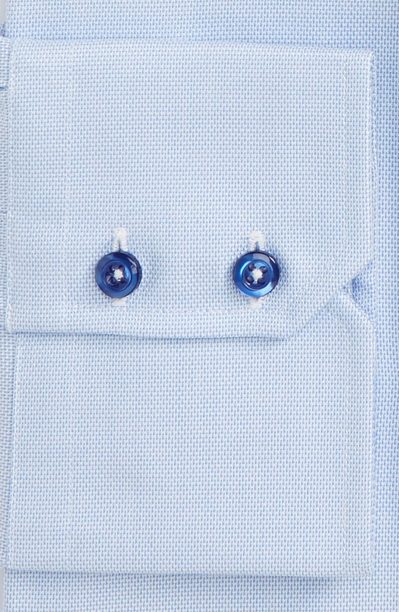 Trim Fit Solid Dress Shirt,                             Alternate thumbnail 2, color,                             Sky