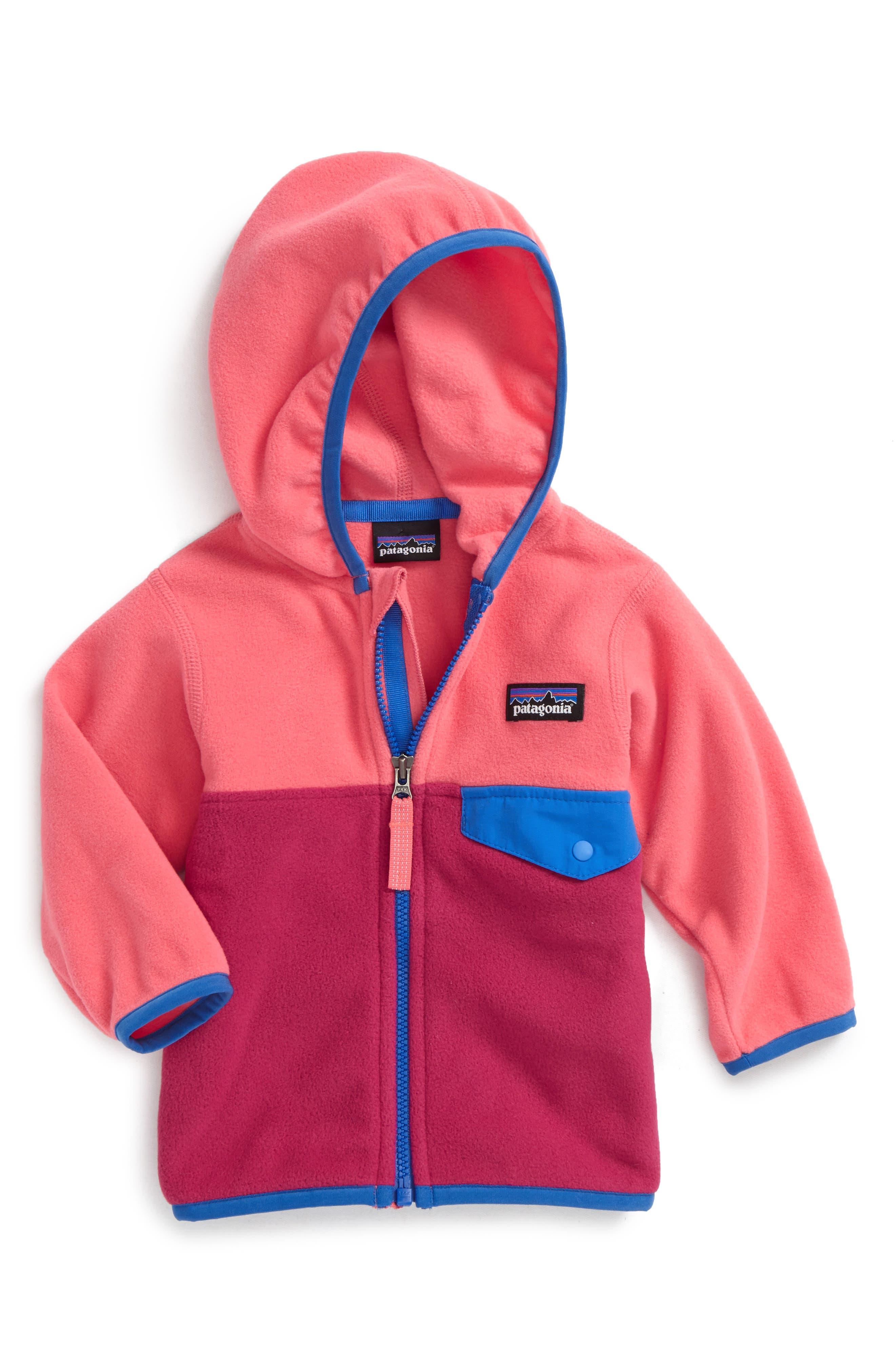 Alternate Image 1 Selected - Patagonia Micro D® Snap-T® Fleece Jacket (Baby Girls)