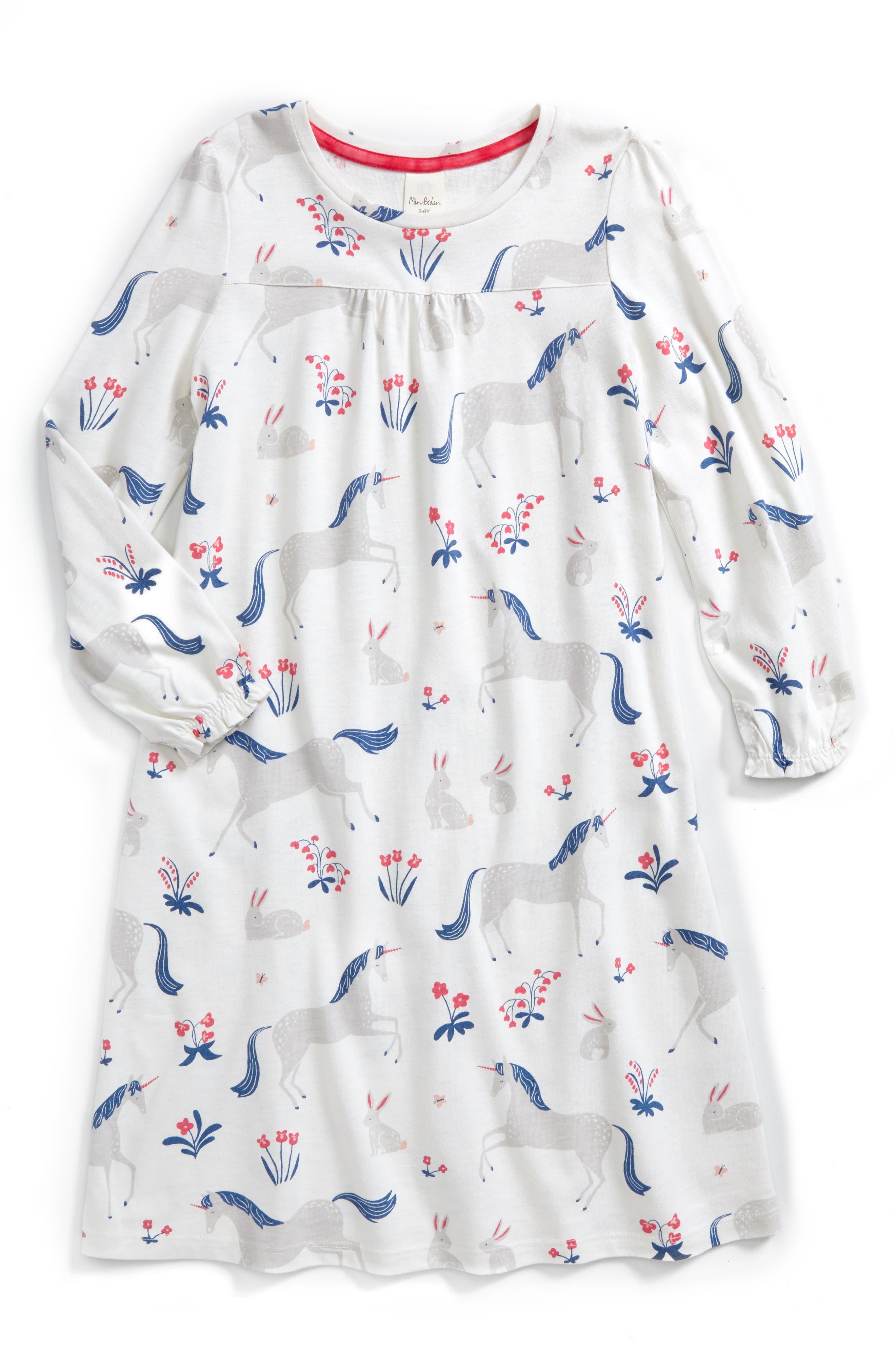 Mini Boden Print Nightgown (Toddler Girls, Little Girls & Big Girls)