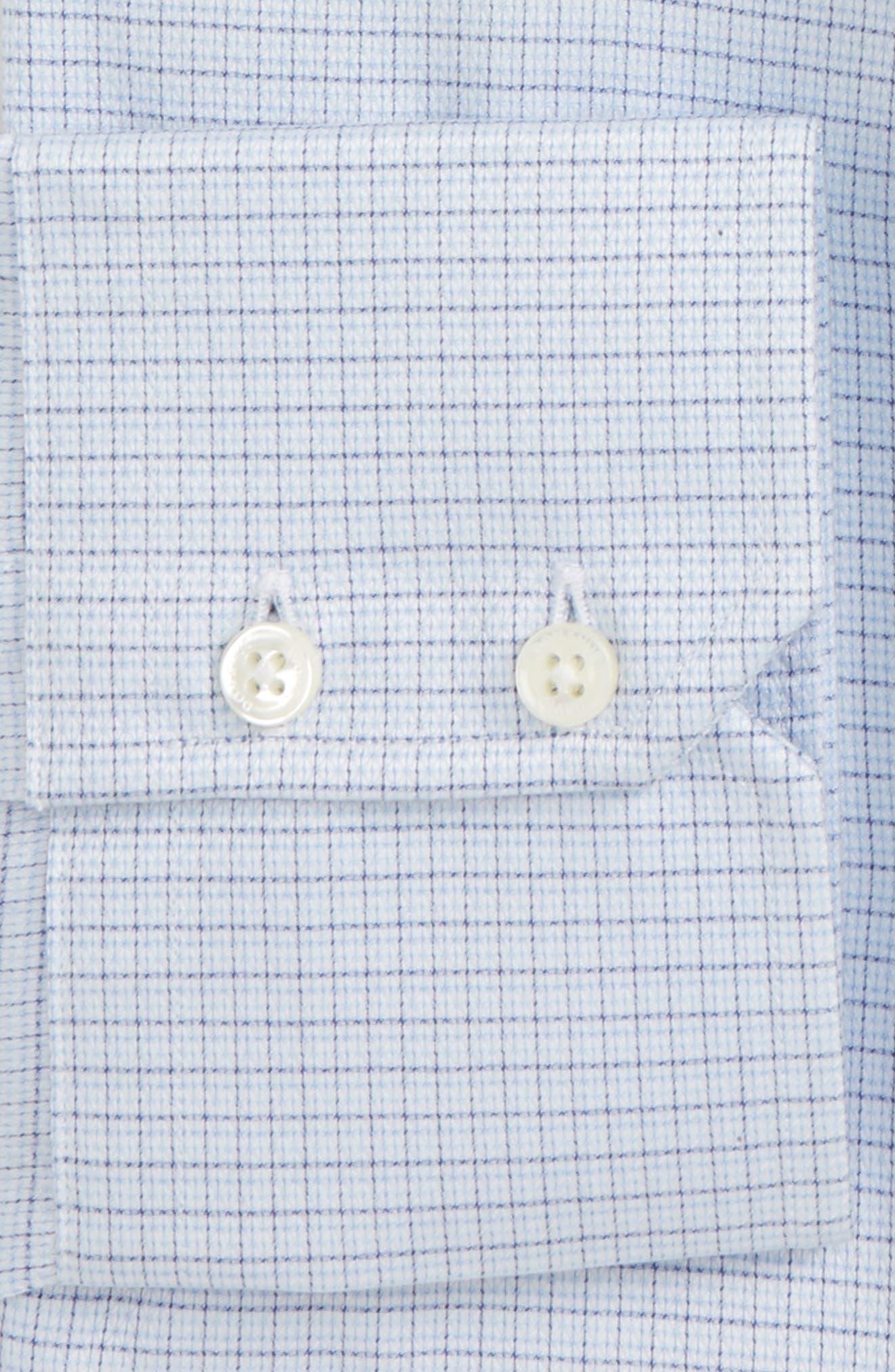 Alternate Image 2  - David Donahue Trim Fit Check Dress Shirt