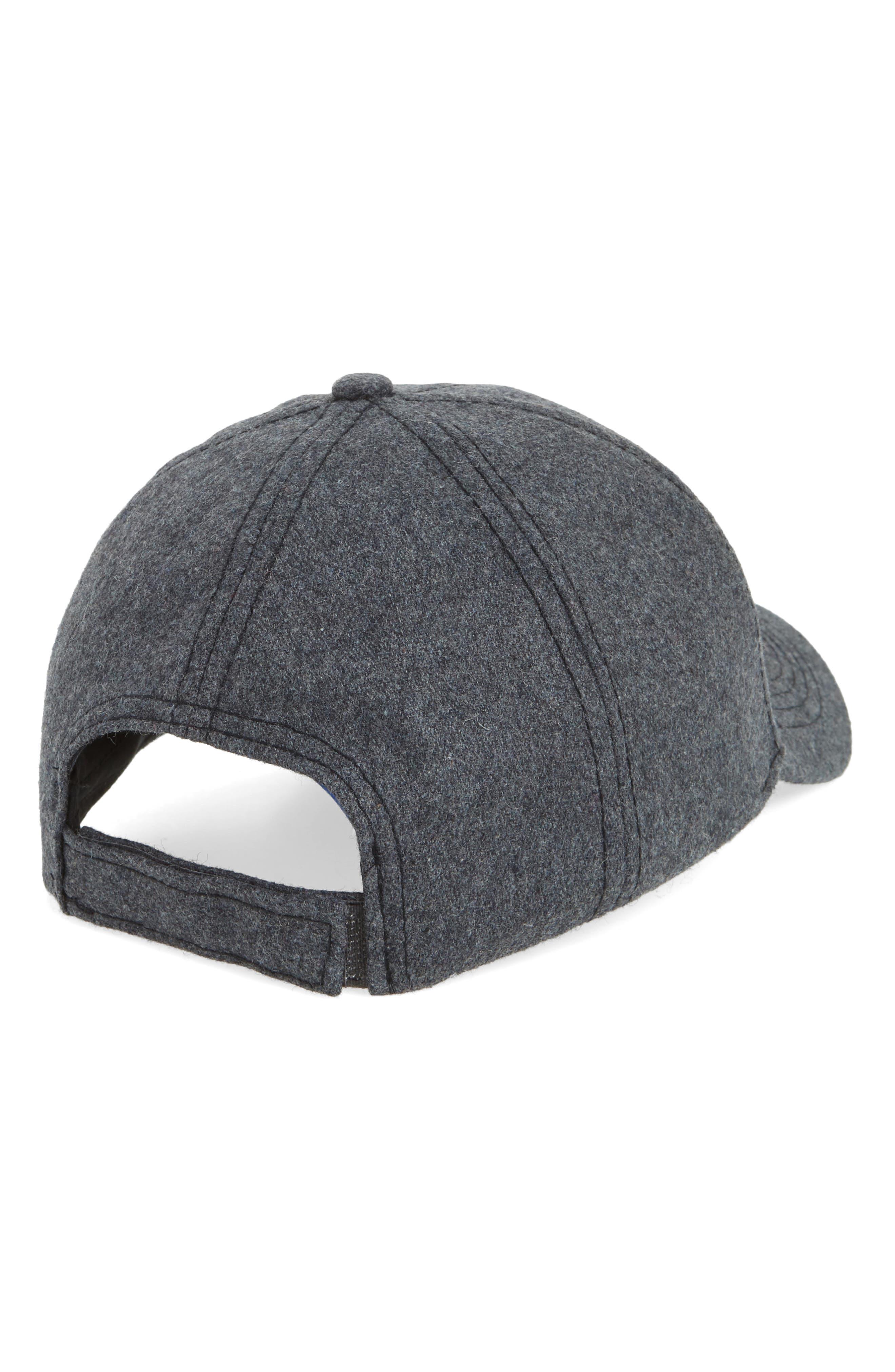 Embroidered Baseball Cap,                             Alternate thumbnail 2, color,                             Grey
