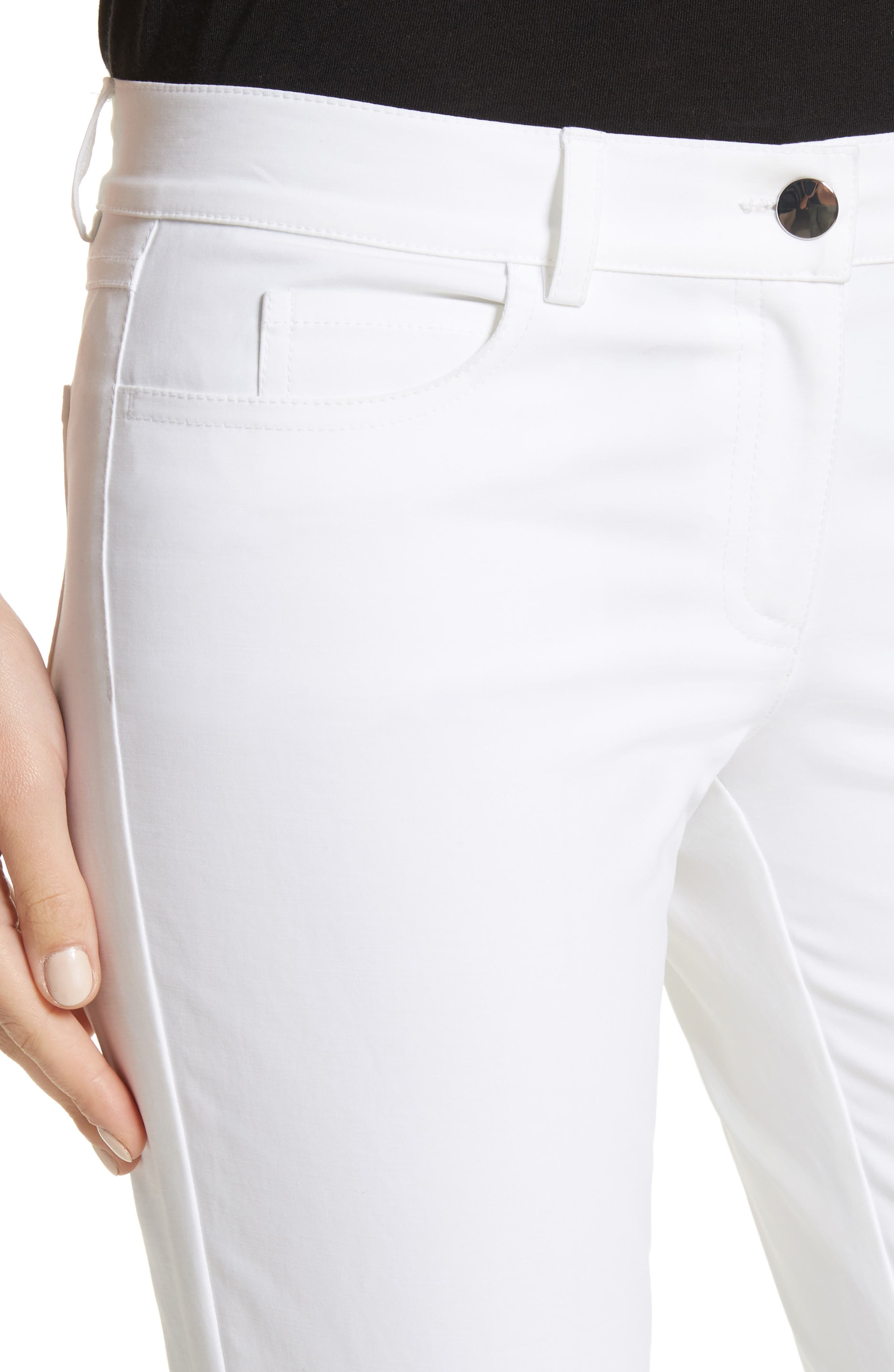 Alternate Image 4  - Michael Kors Samantha Skinny Jeans (Optic White)