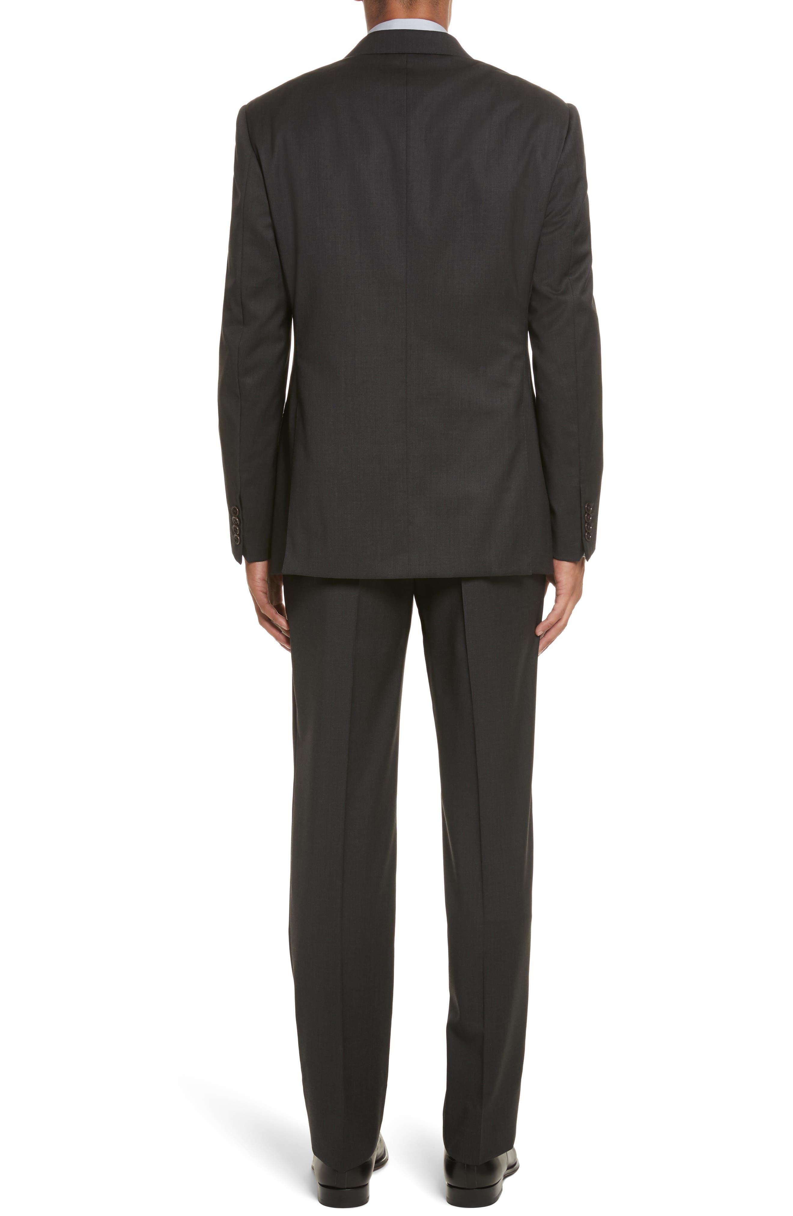 'G-Line' Trim Fit Solid Wool Suit,                             Alternate thumbnail 2, color,                             Charcoal