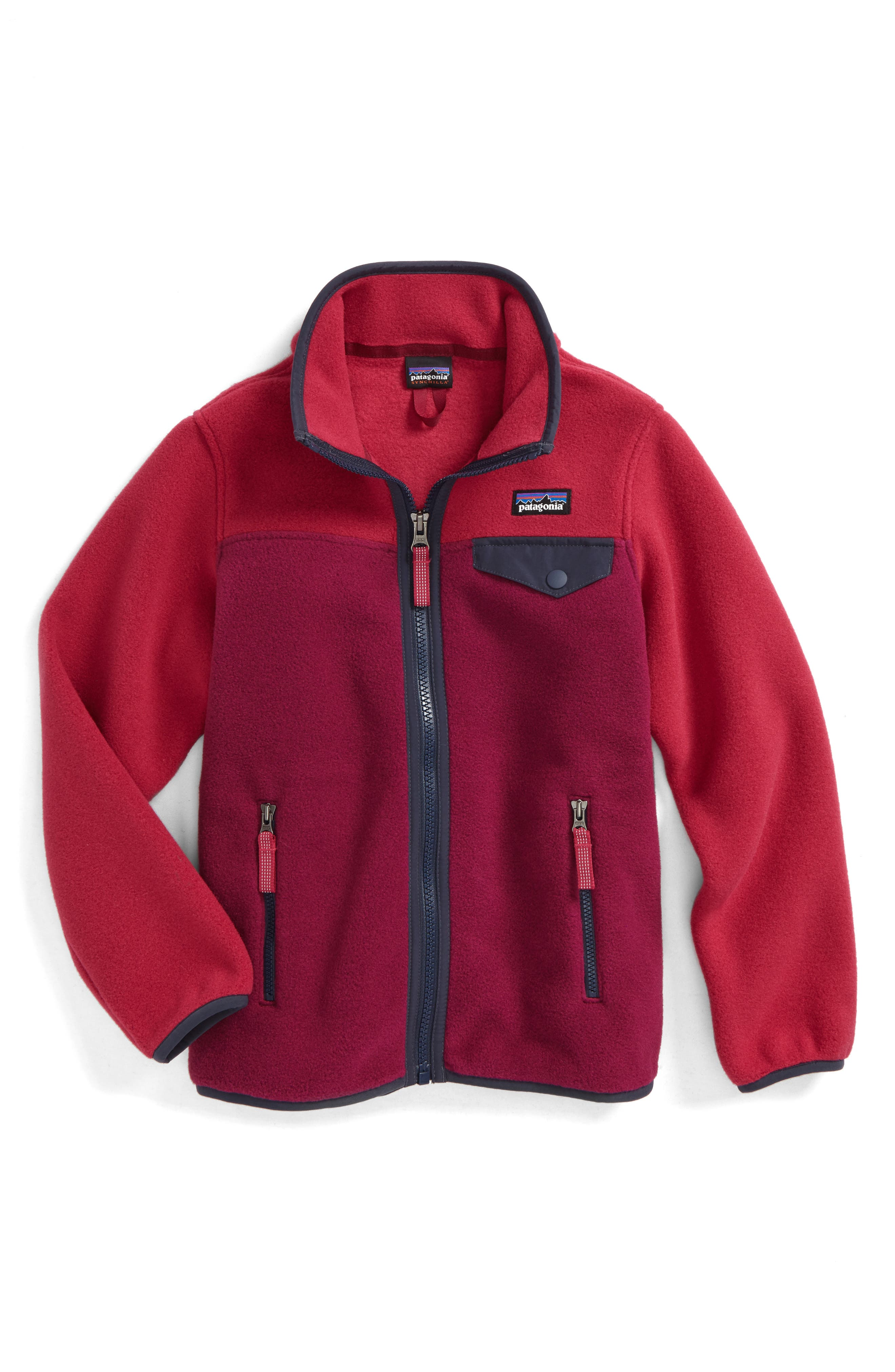 Alternate Image 1 Selected - Patagonia Synchilla® Snap-T® Fleece Jacket (Little Girls & Big Girls)