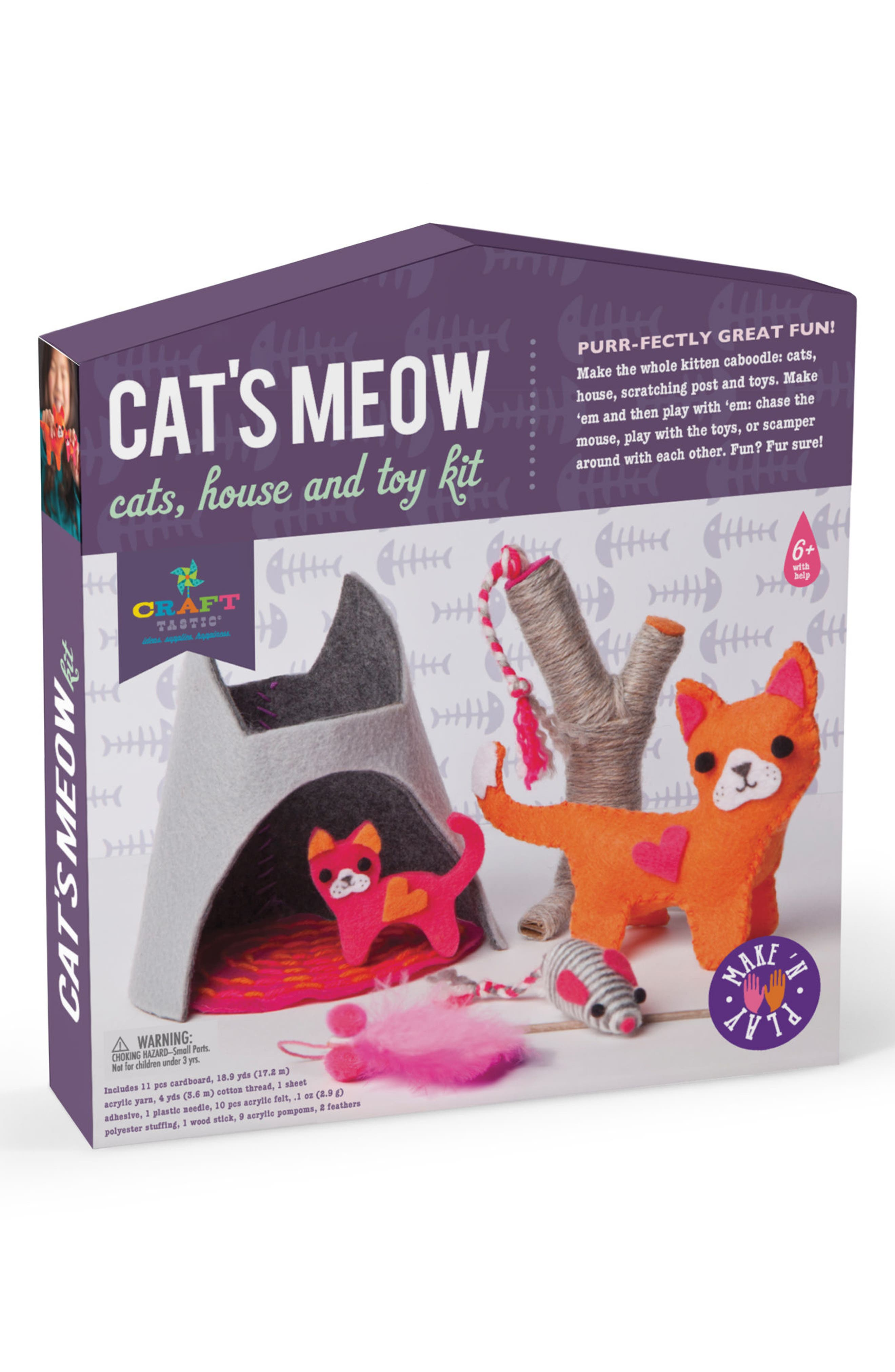 CRAFT-TASTIC Cat's Meow Cats, House & Toy Craft Kit
