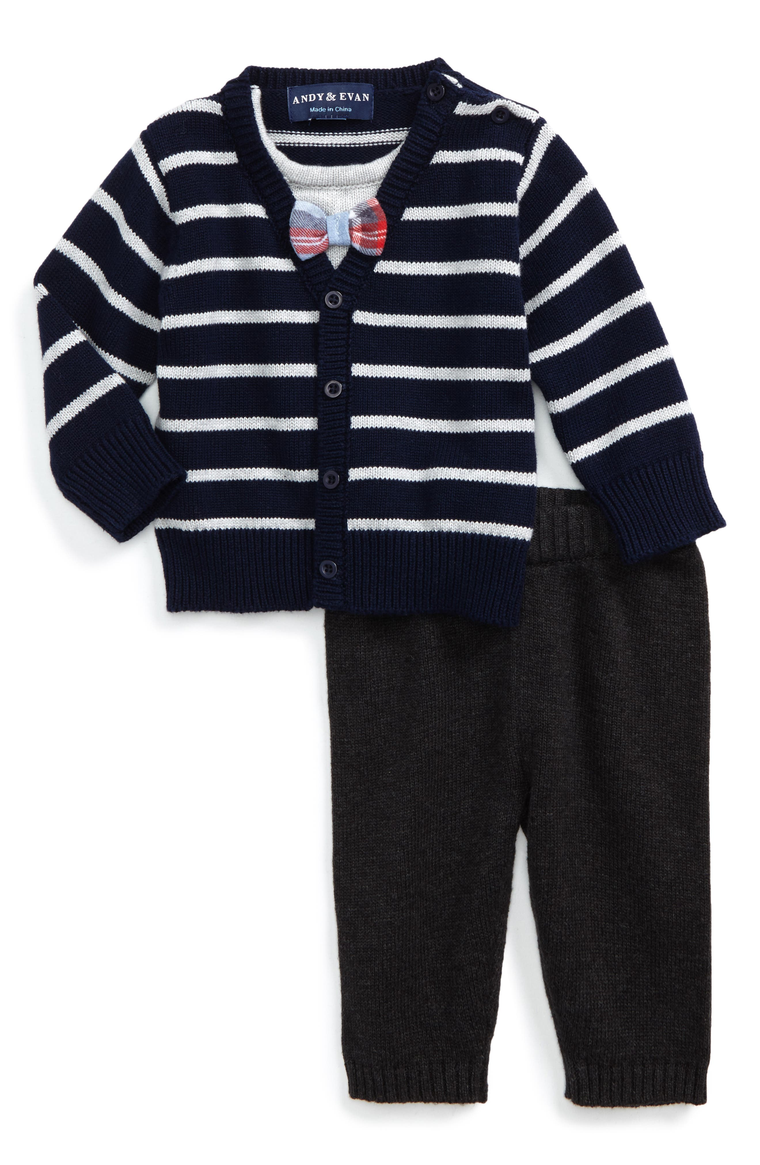 Andy & Evan Cardigan & Pants Set (Baby Boys)
