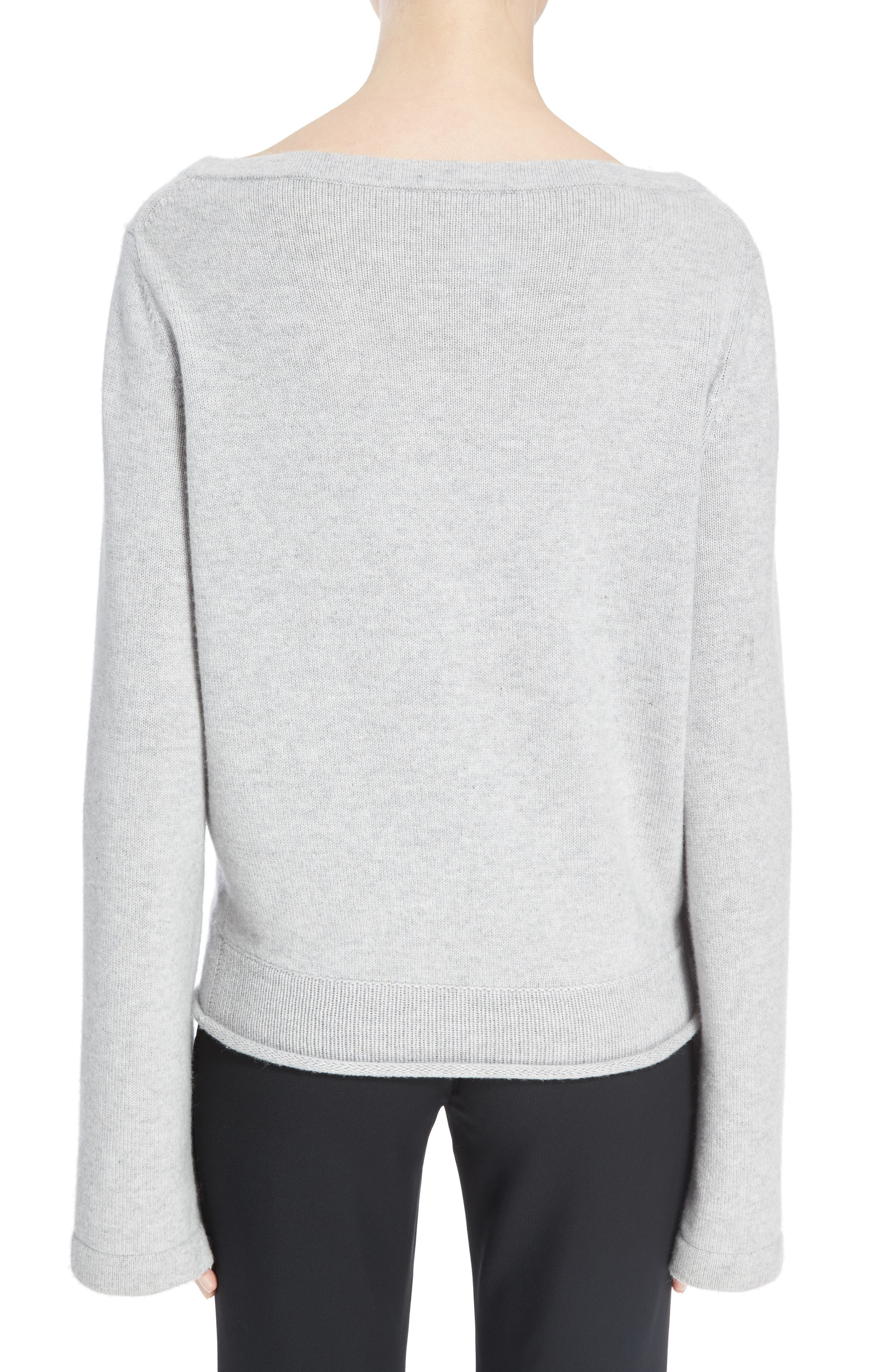 Iconic Cashmere Sweater,                             Alternate thumbnail 2, color,                             Cozy Grey