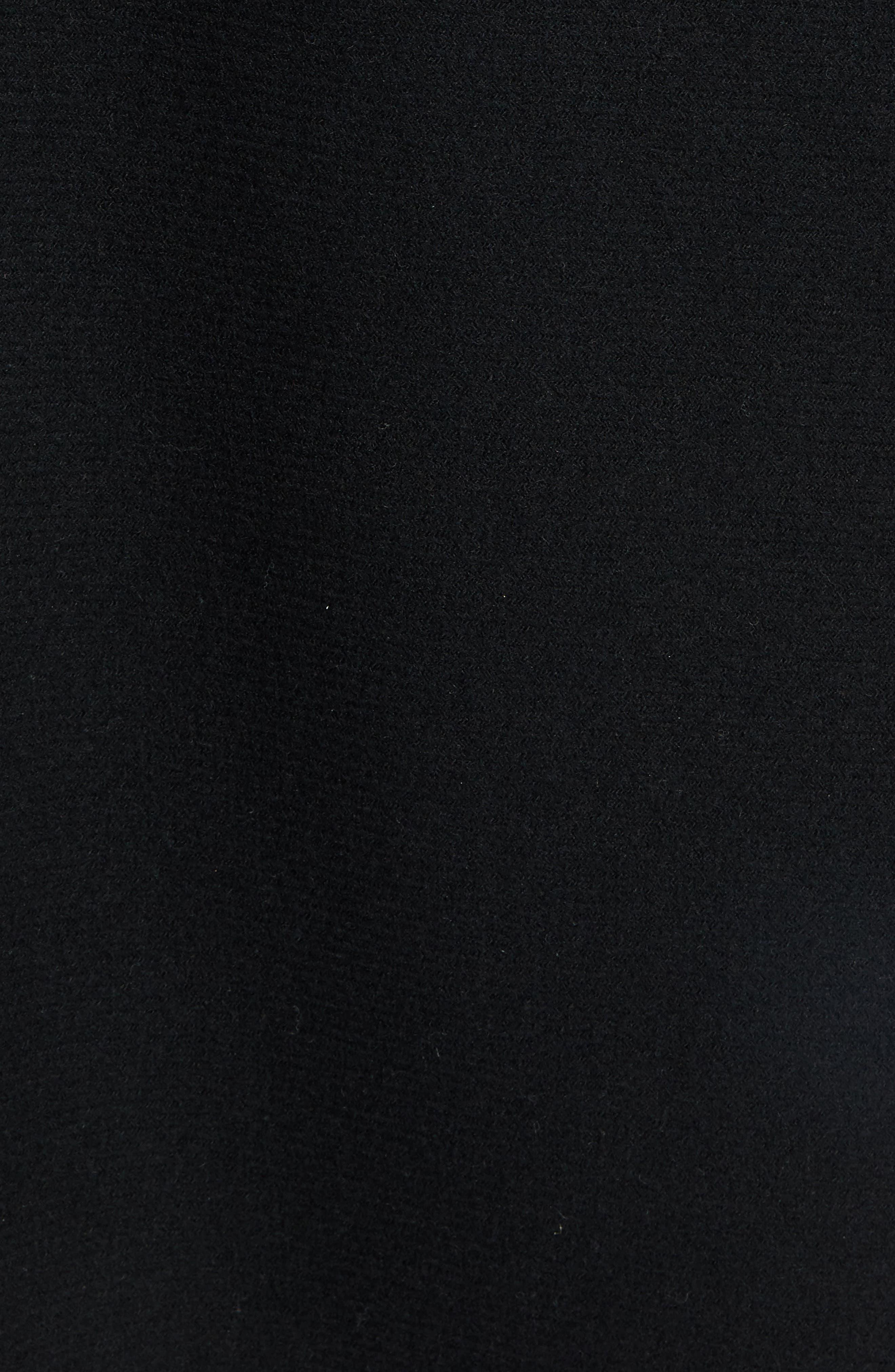 Virgin Wool Blend Poncho,                             Alternate thumbnail 5, color,                             Black