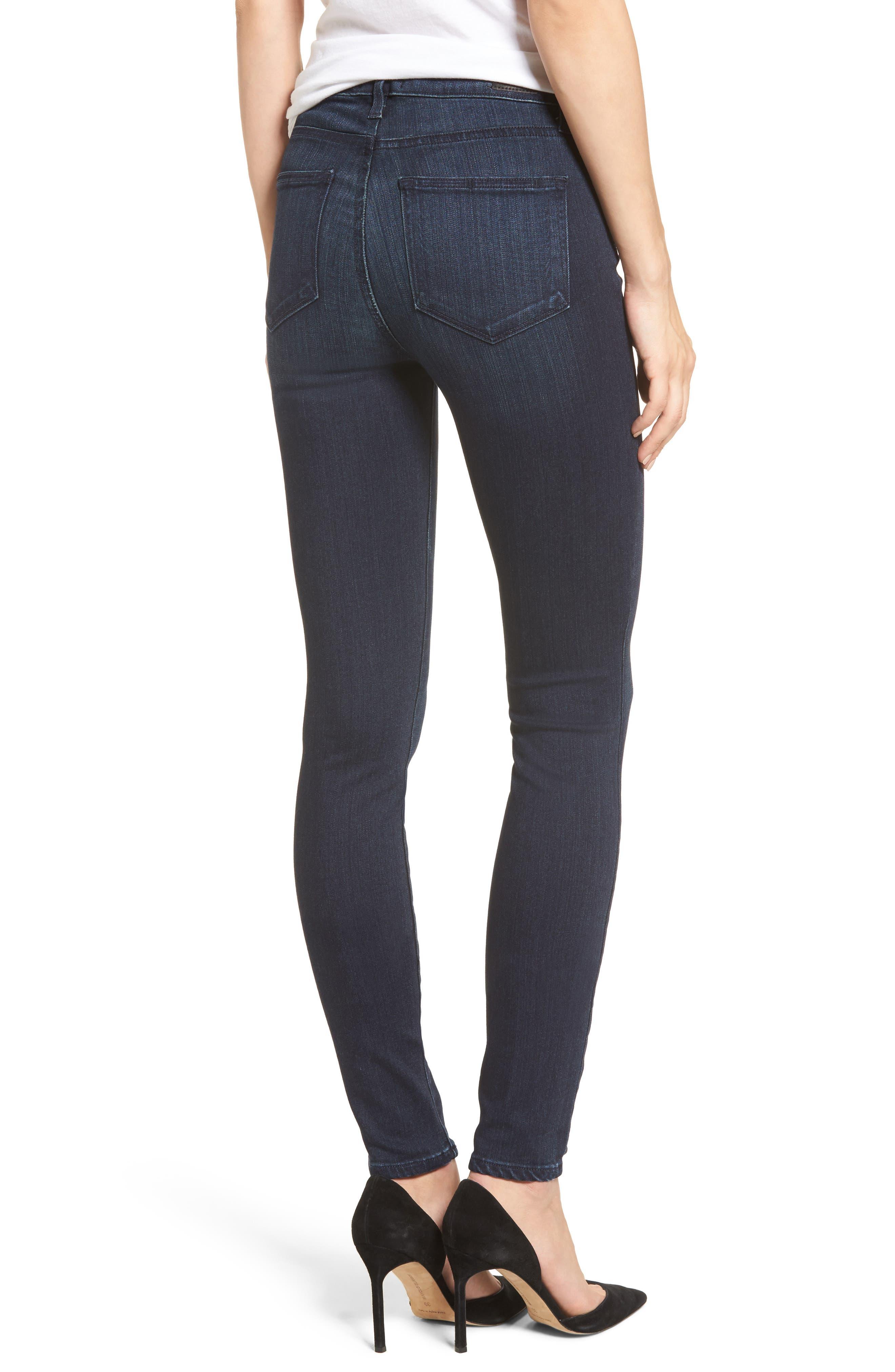 Transcend - Hoxton High Waist Ultra Skinny Jeans,                             Alternate thumbnail 2, color,                             Midlake
