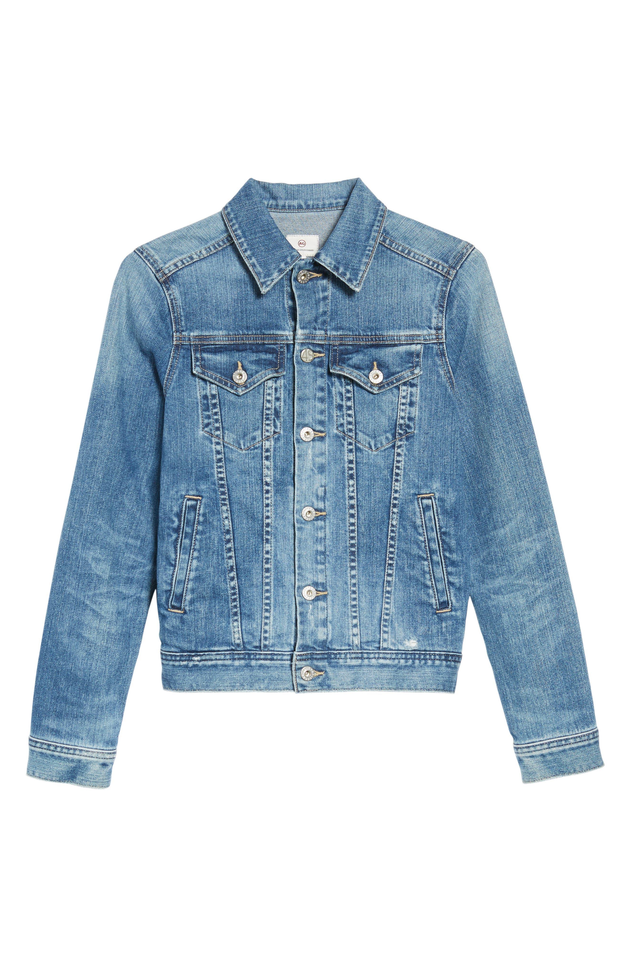 'Mya' Denim Jacket,                             Alternate thumbnail 7, color,                             10 Years Magnetic Blue