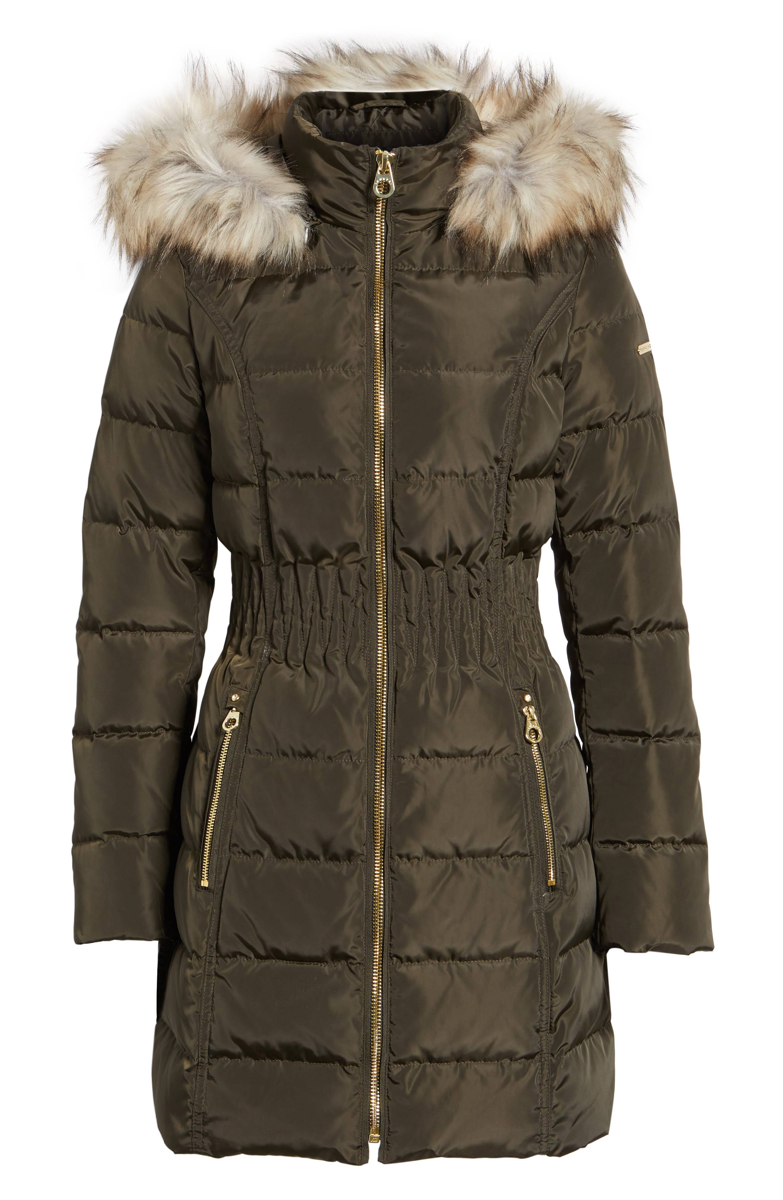 Alternate Image 6  - Laundry by Shelli Segal Hooded Quilted Jacket with Faux Fur Trim