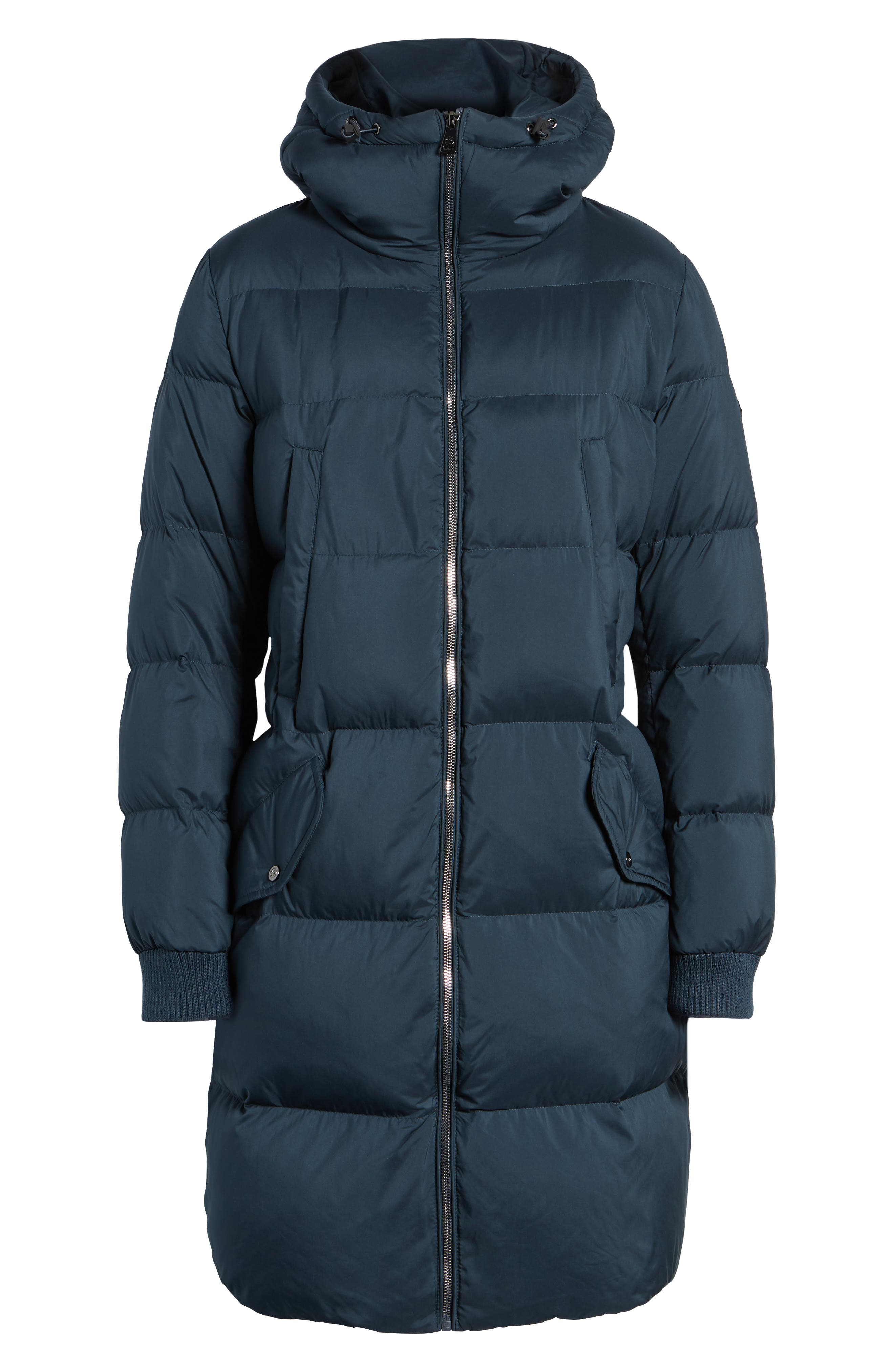 Quilted Down Jacket,                         Main,                         color, Navy