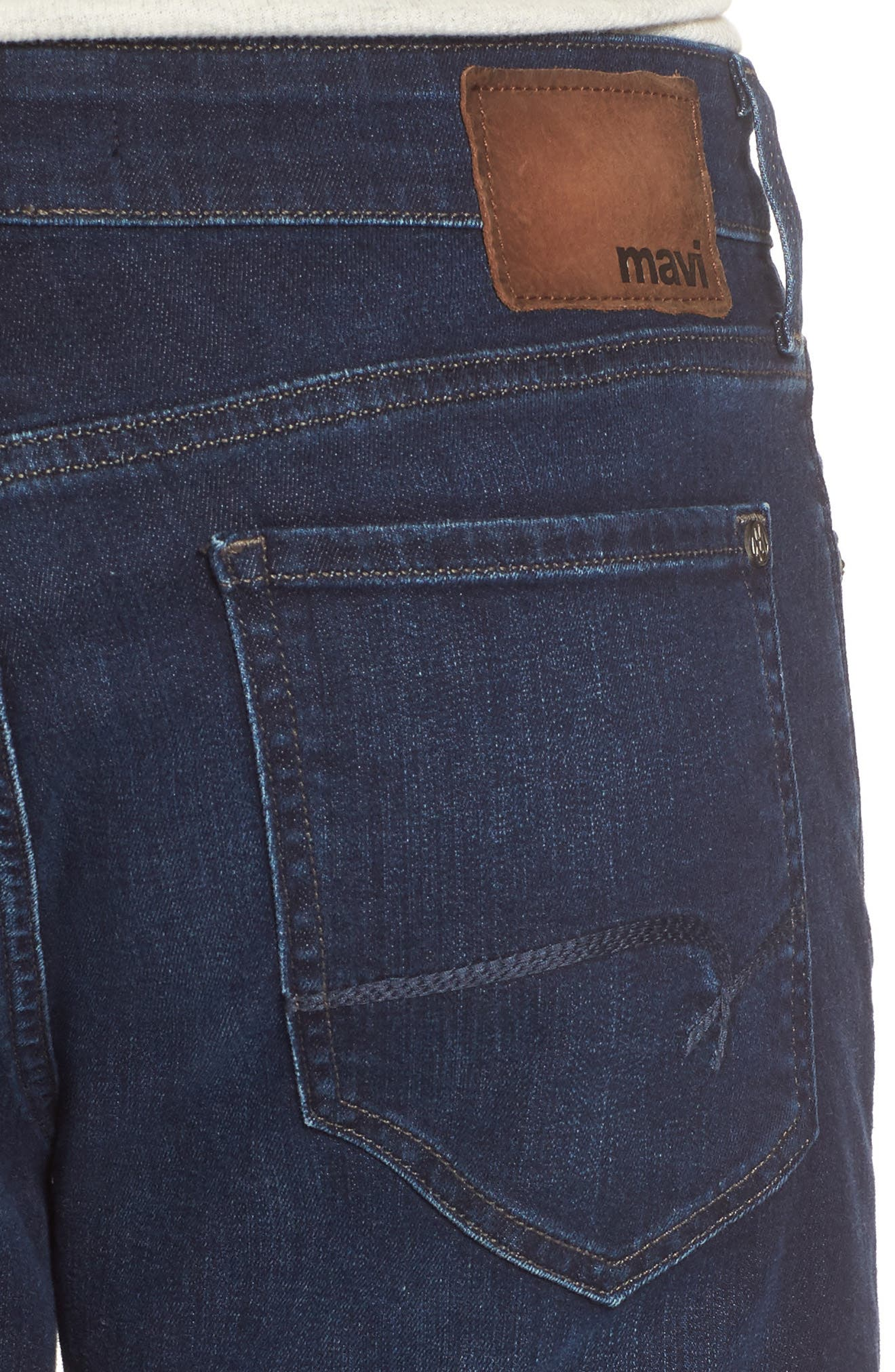 Myles Straight Fit Jeans,                             Alternate thumbnail 4, color,                             Deep Clean Comfort