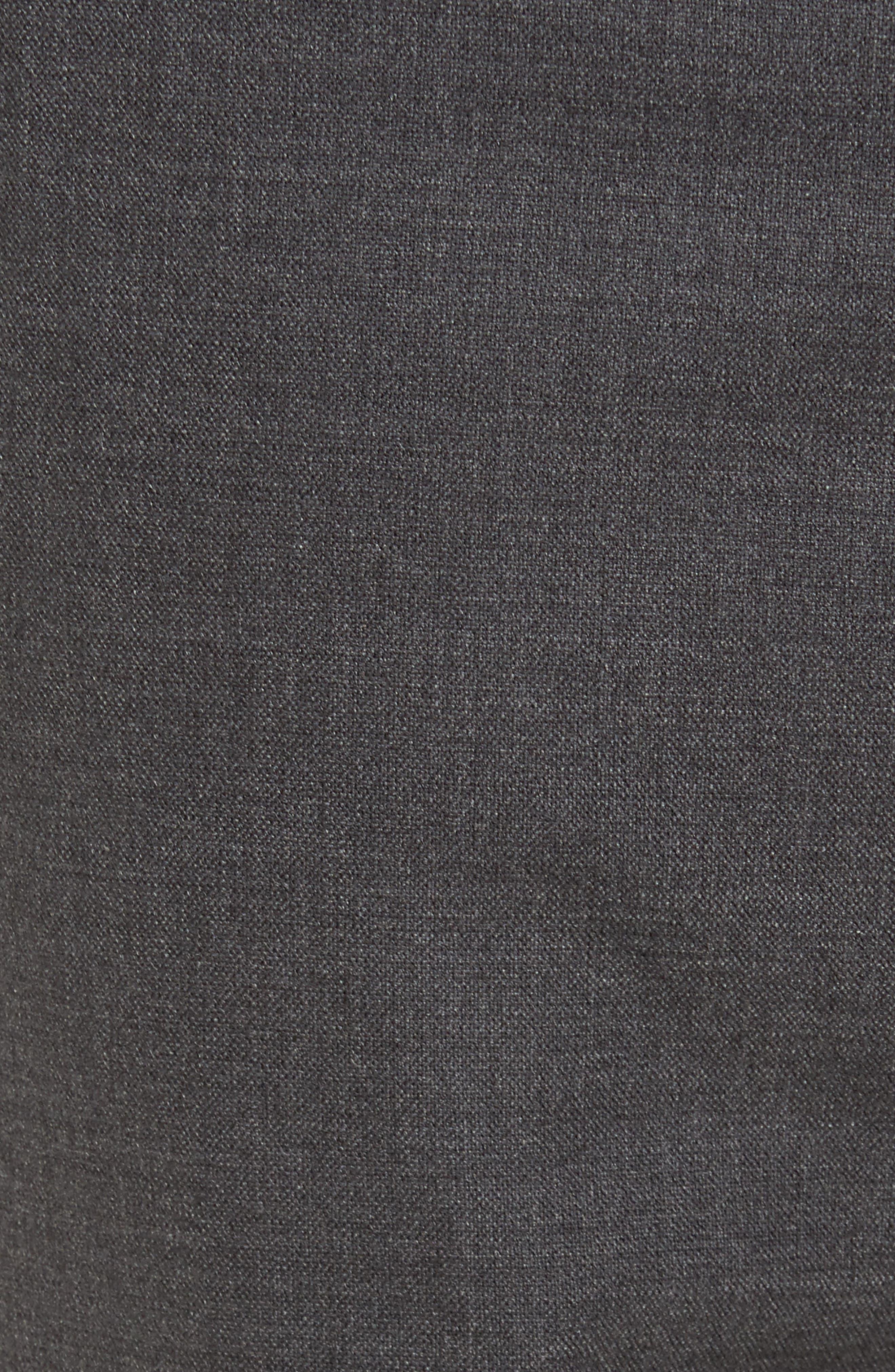 Zaine Gearheart Slim Straight Pants,                             Alternate thumbnail 5, color,                             Medium Charcoal