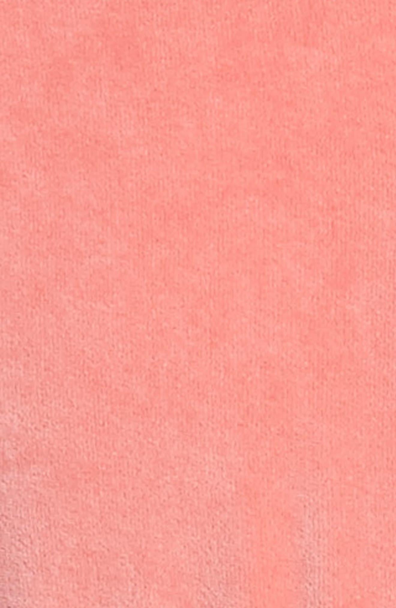 Alternate Image 3  - Mini Rodini Fox Appliqué Velour Dress (Toddler Girls & Little Girls)