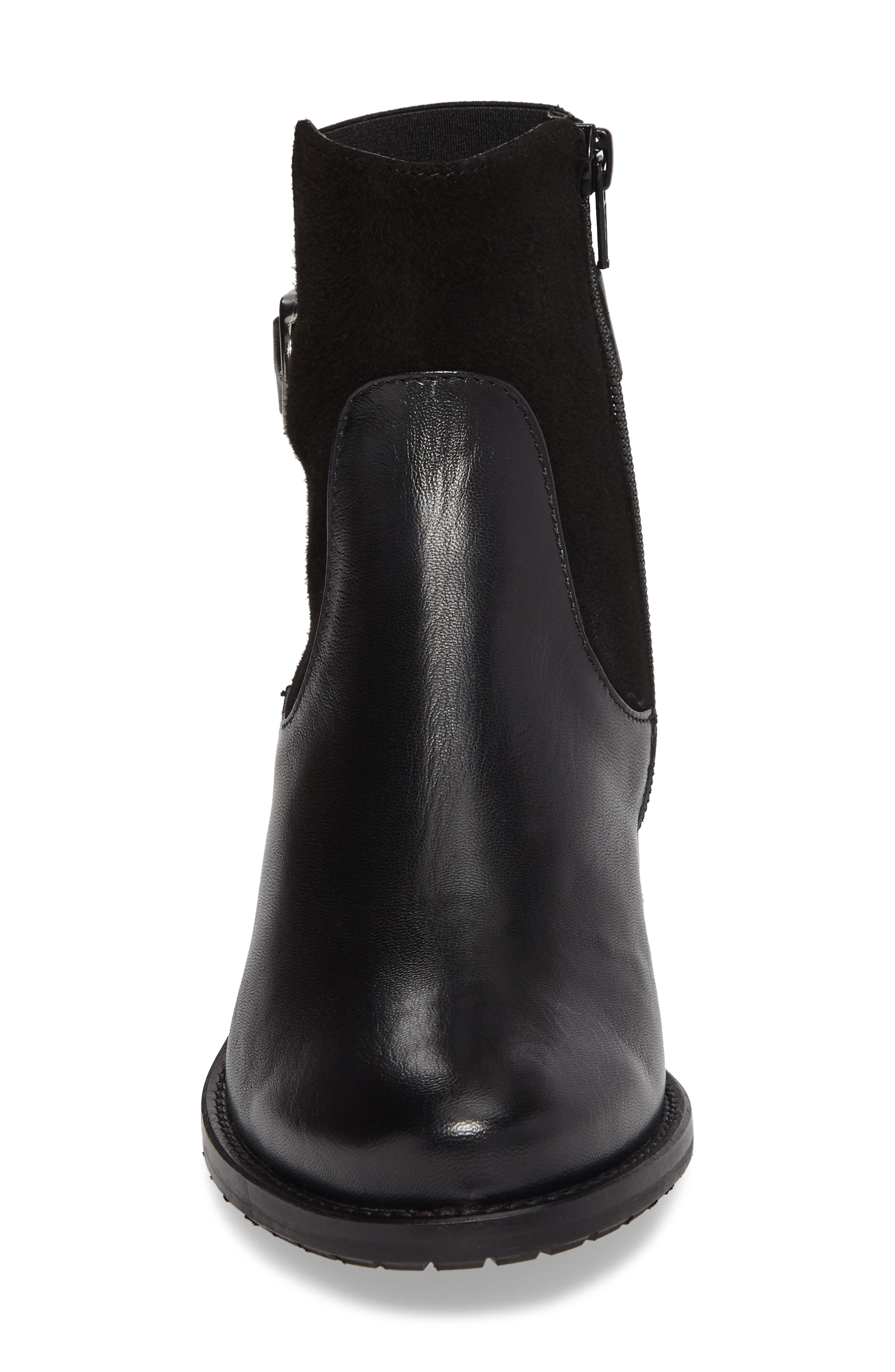 Samira Bootie,                             Alternate thumbnail 4, color,                             Black Leather