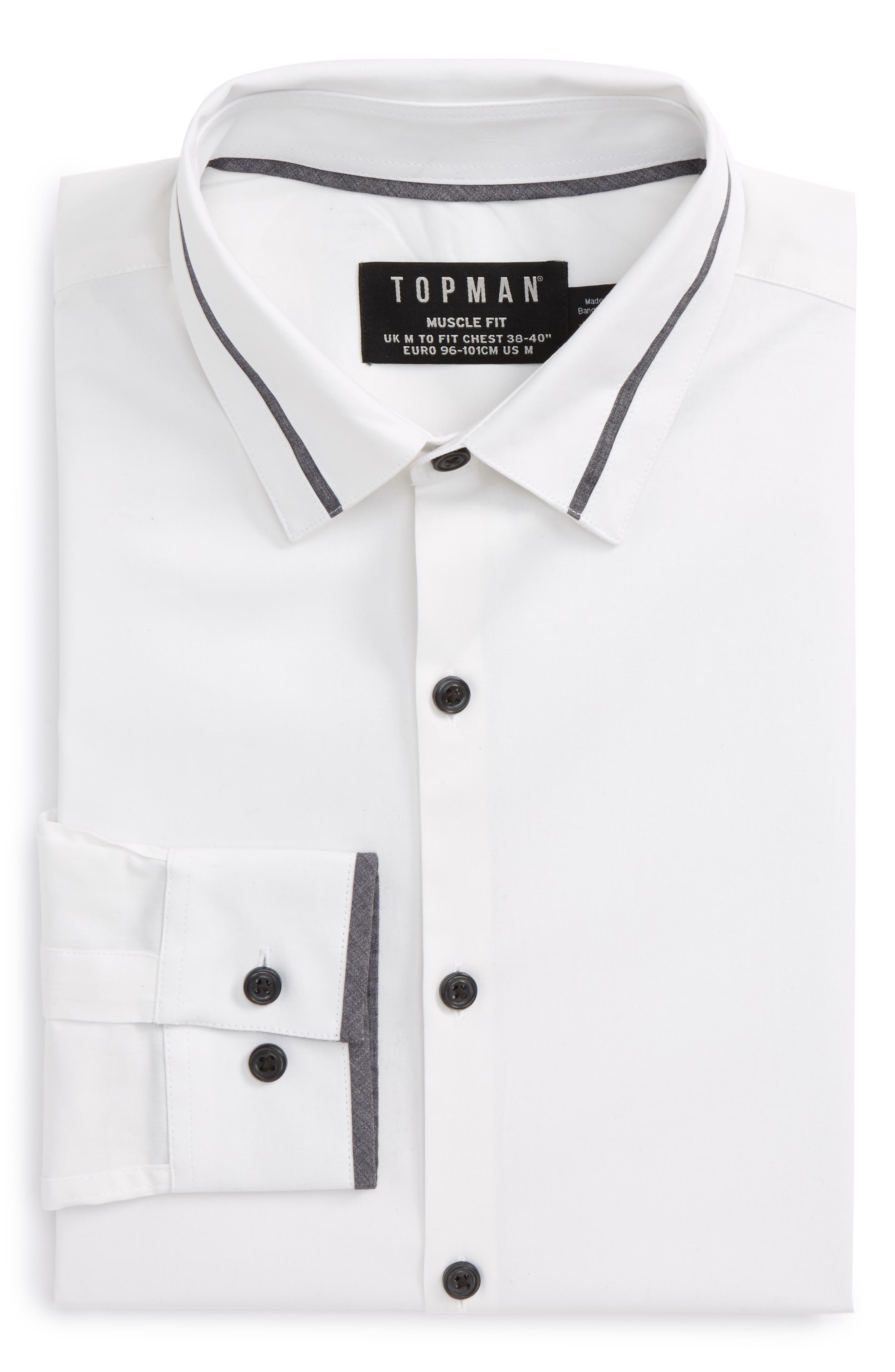 Alternate Image 5  - Topman Muscle Fit Contrast Trim Smart Shirt