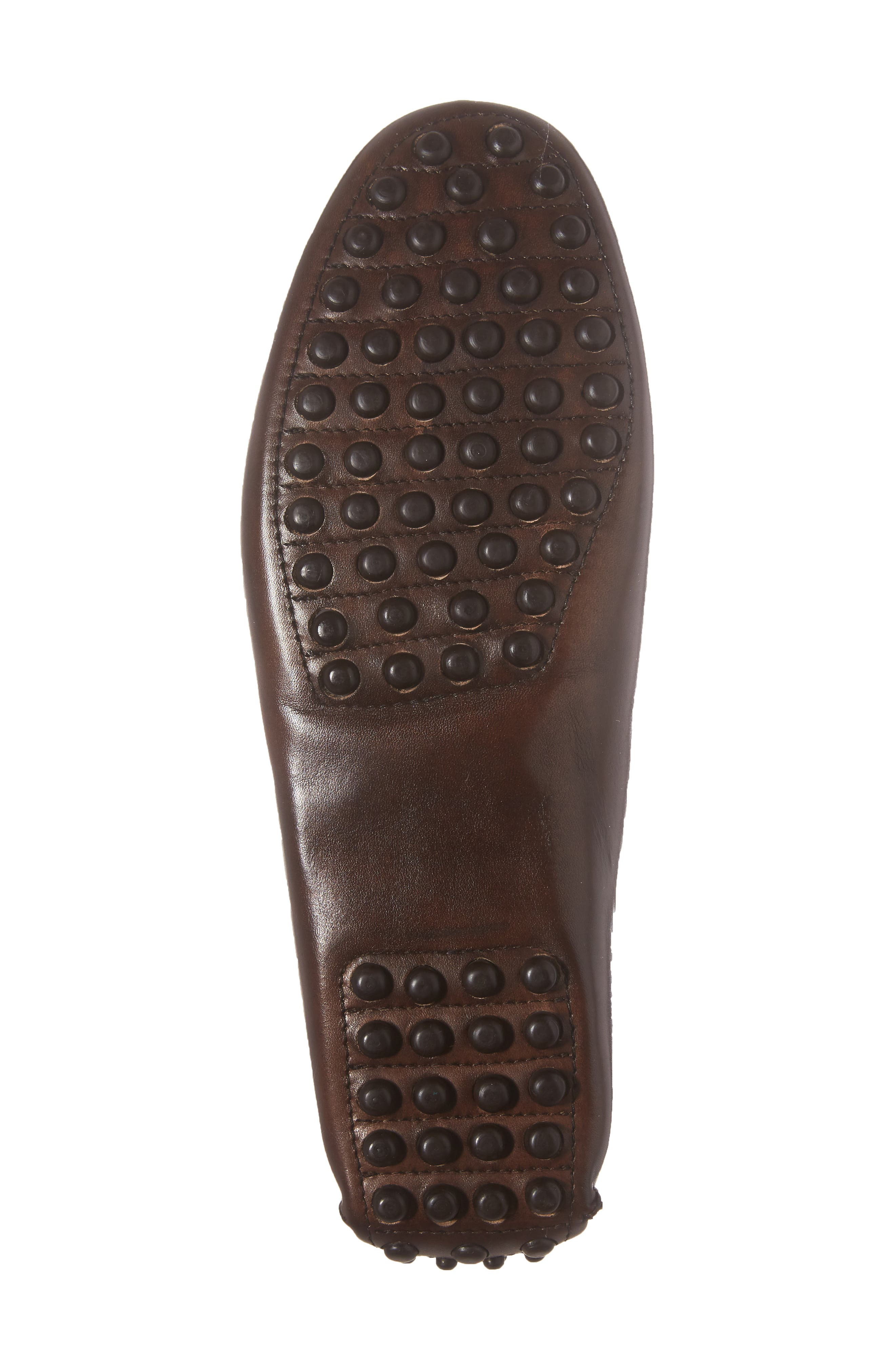 Cane Driving Shoe,                             Alternate thumbnail 6, color,                             Brown Leather