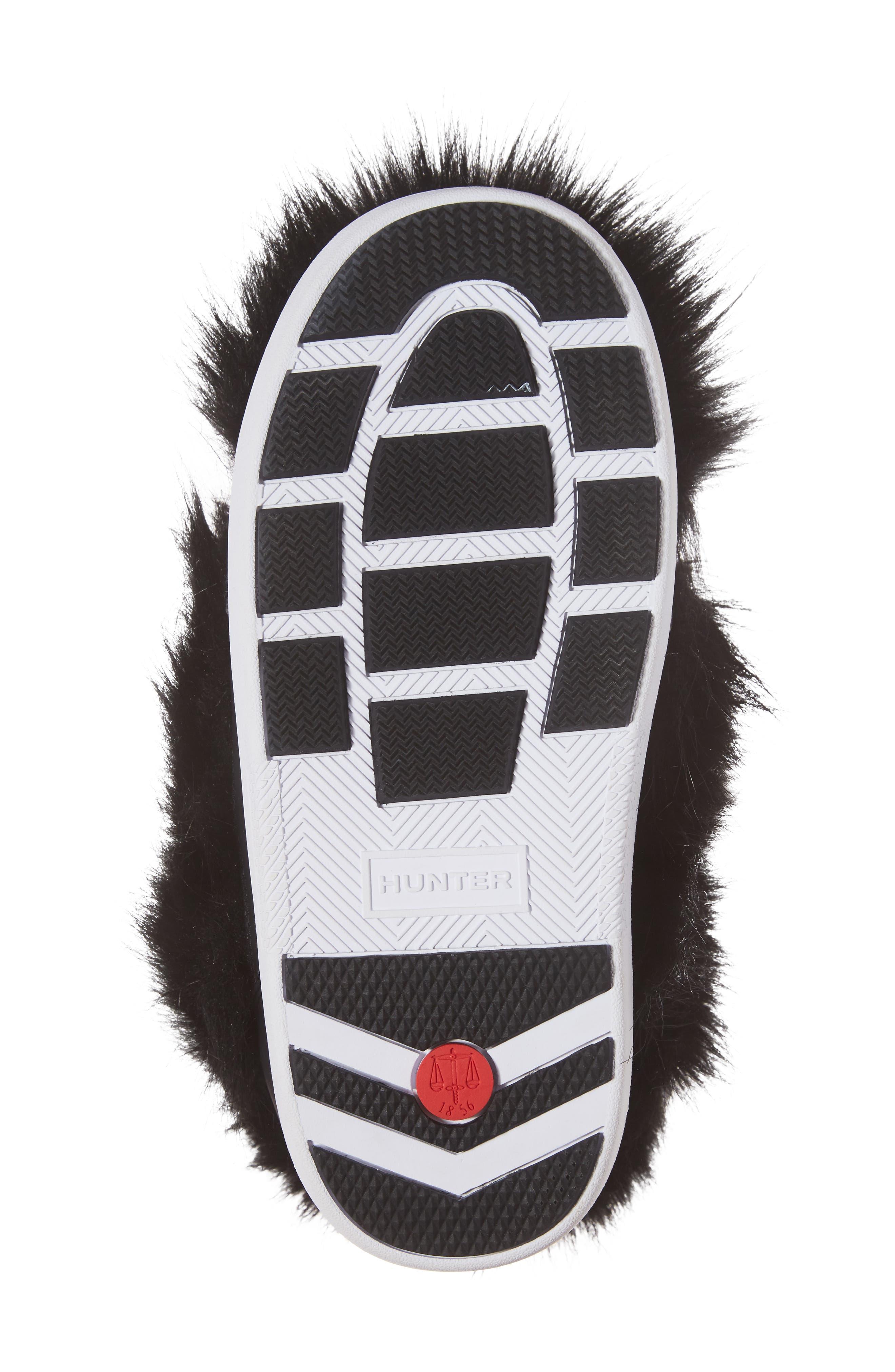 Snow Original Faux Fur Boot,                             Alternate thumbnail 6, color,                             Black