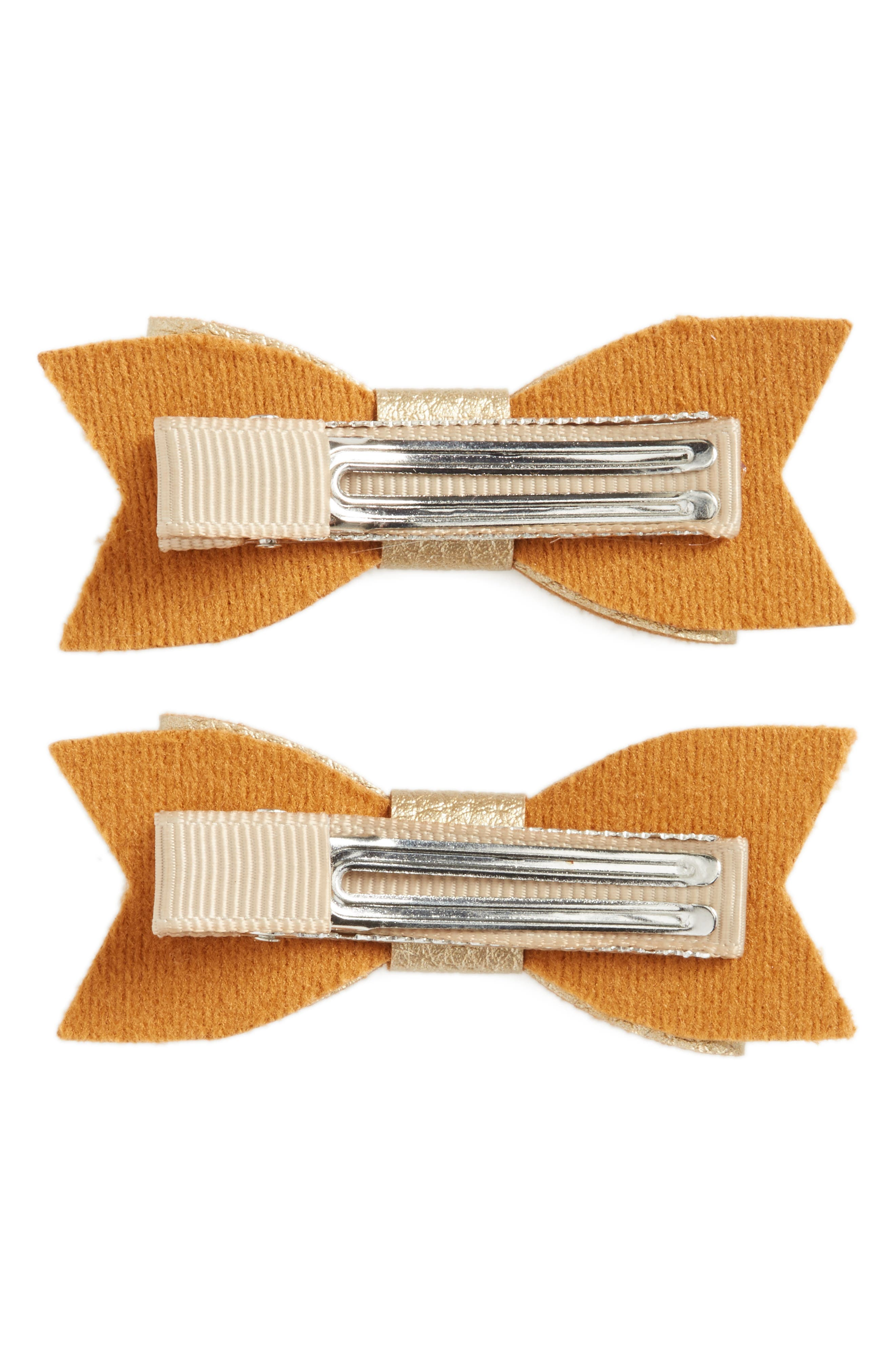 Alternate Image 2  - Baby Bling 2-Pack Bow Clips (Baby Girls)