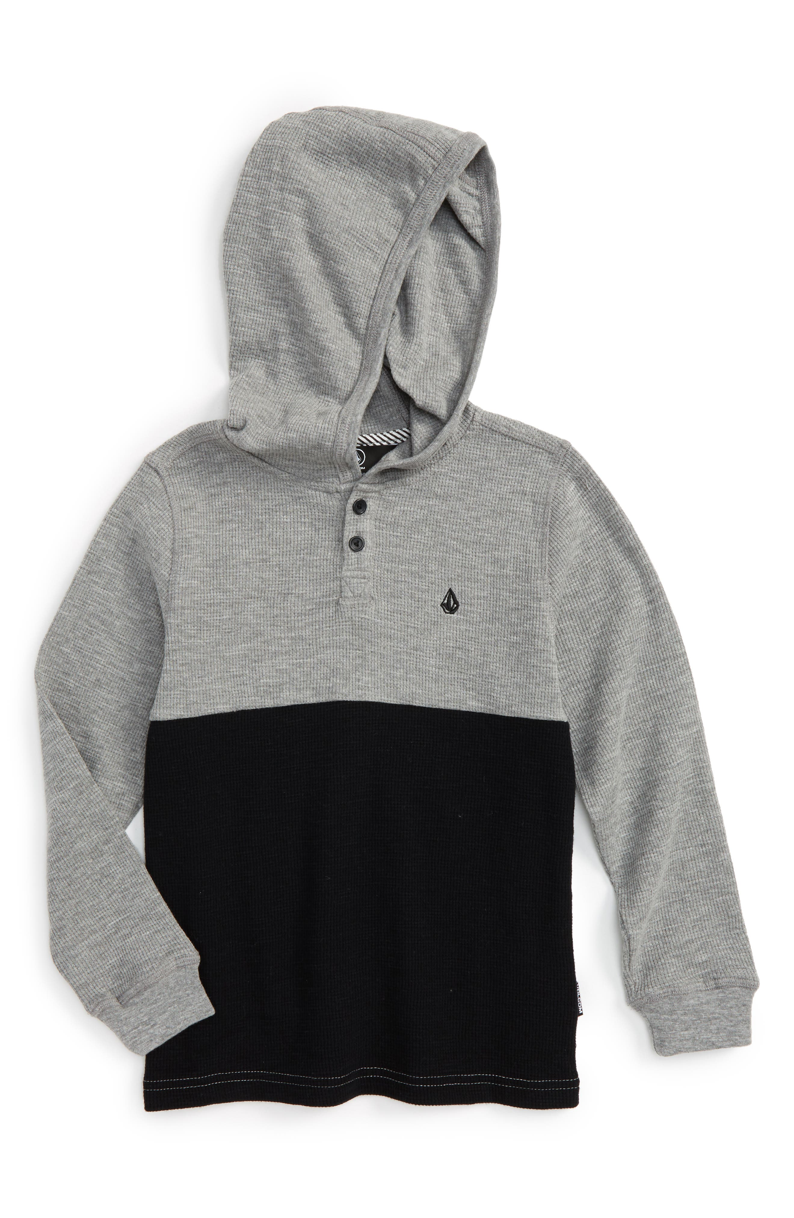 Alternate Image 1 Selected - Volcom Murphy Thermal Hoodie (Toddler Boys & Little Boys)