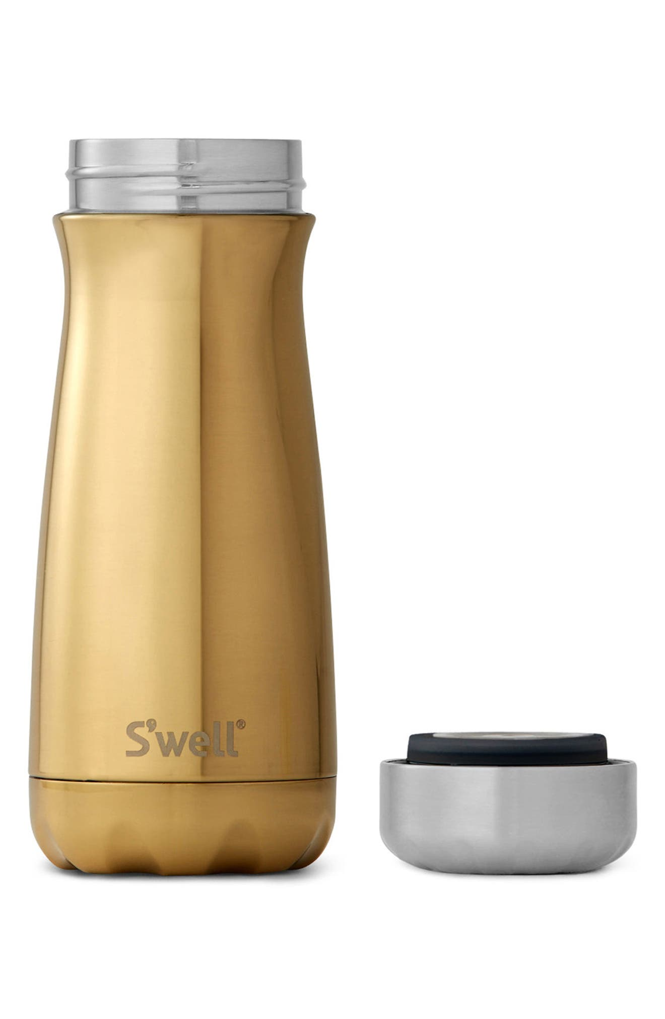 Alternate Image 2  - S'well Traveler Yellow Gold Insulated Stainless Steel Water Bottle