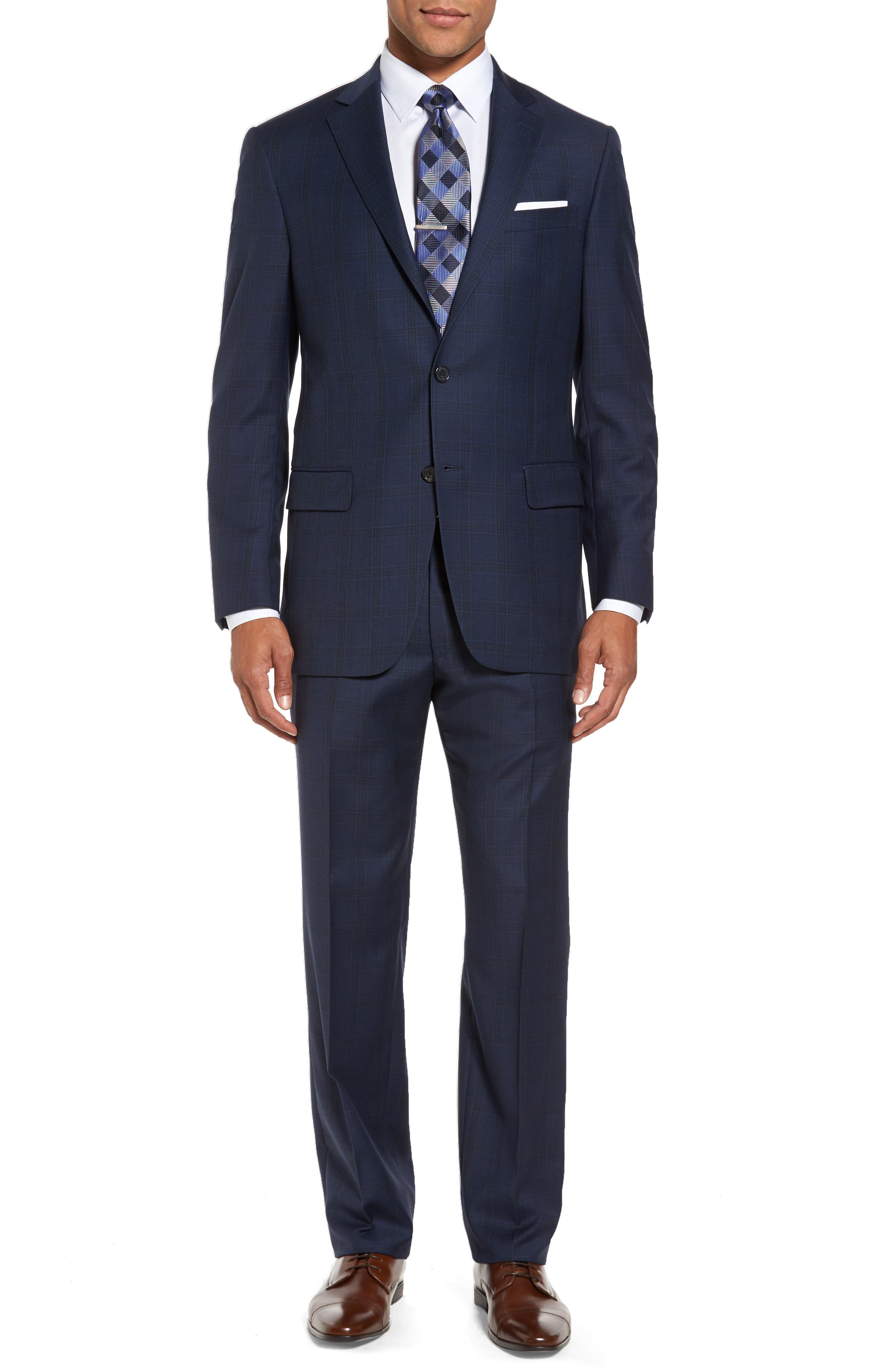 Alternate Image 1 Selected - Hart Schaffner Marx Classic Fit Check Wool Suit