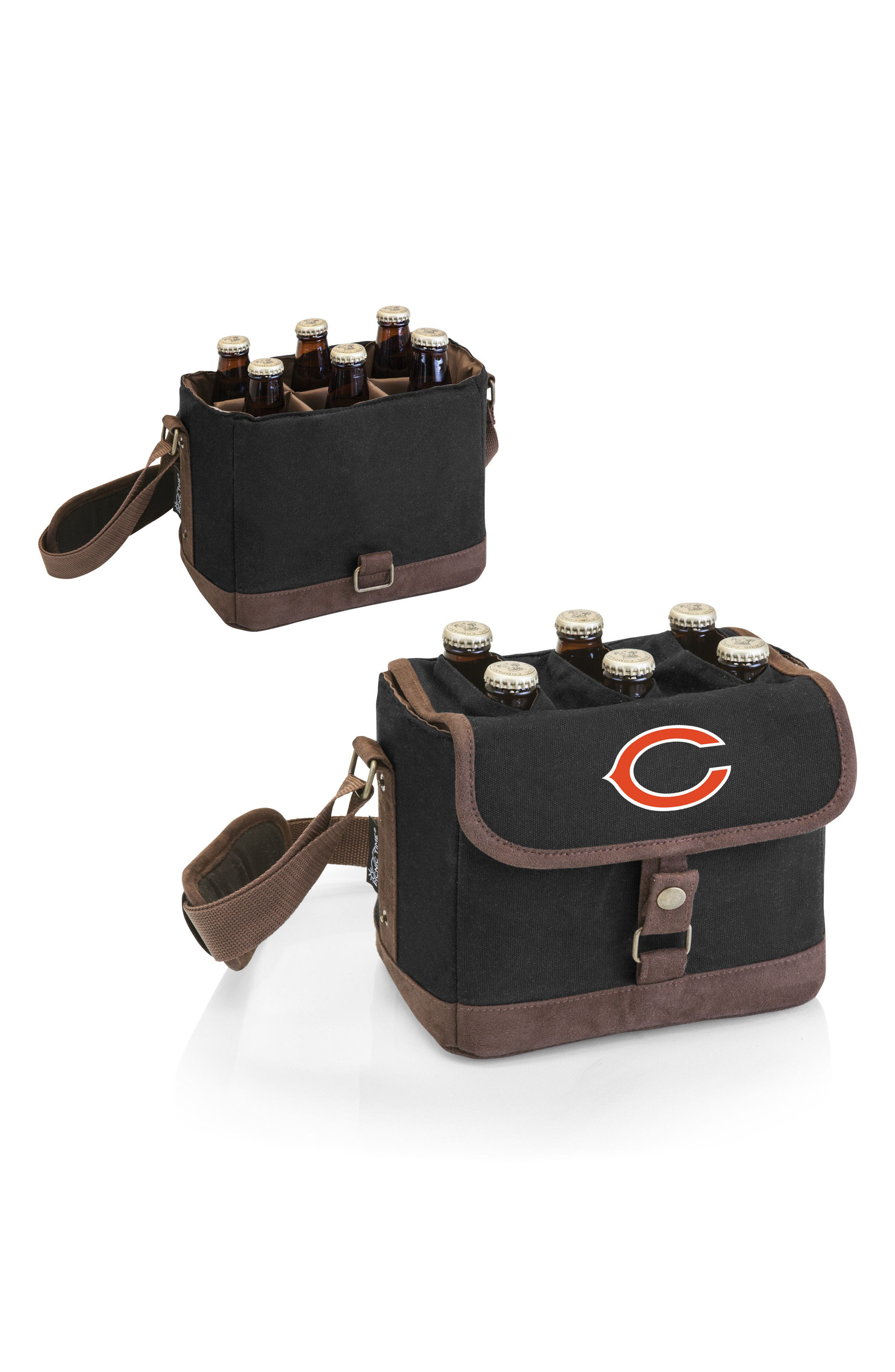 NFL Team Logo Beer Caddy Cooler Tote,                             Alternate thumbnail 2, color,                             Chicago Bears