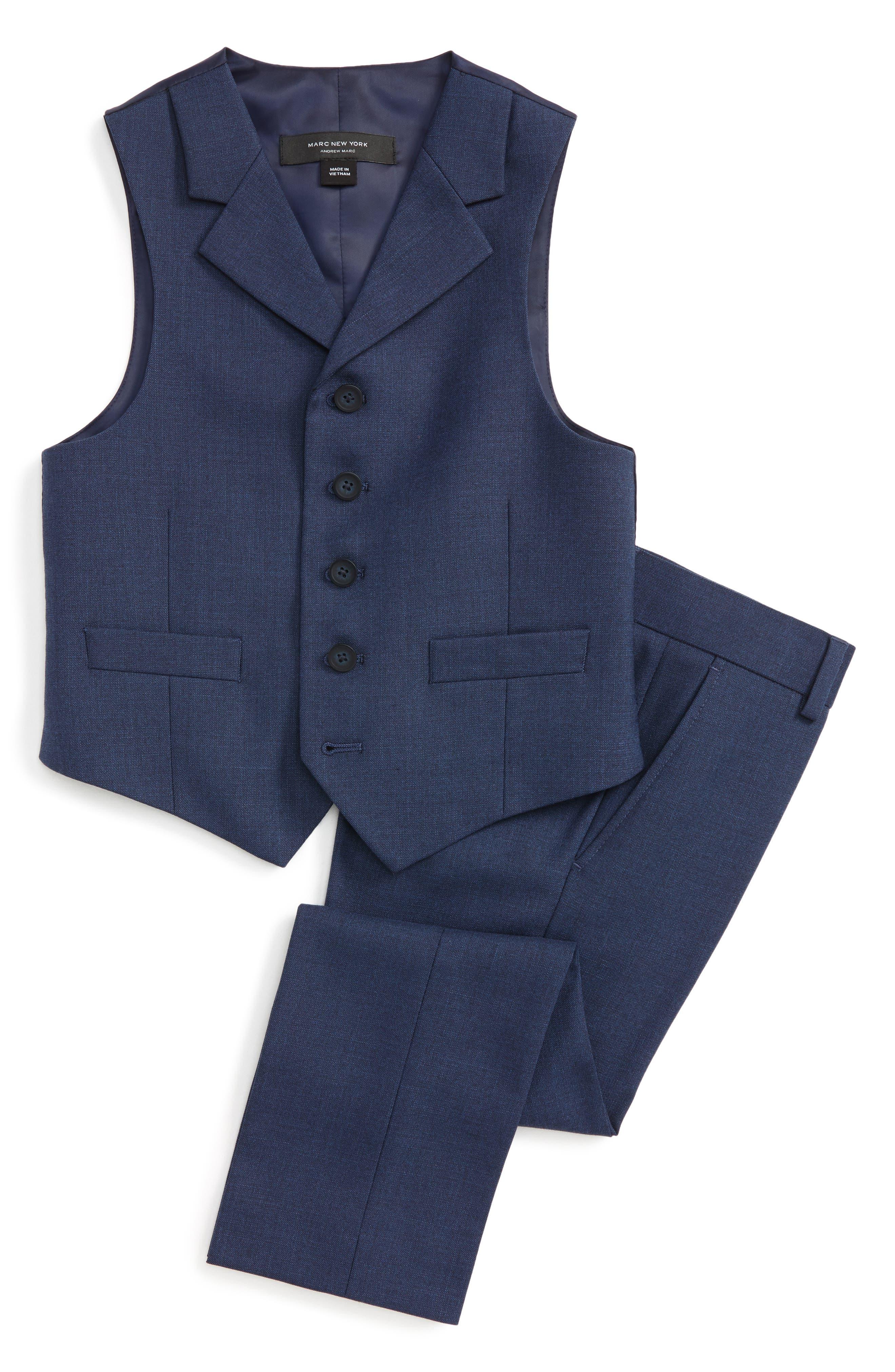 Andrew Marc Vest & Pants Set (Little Boys & Big Boys)
