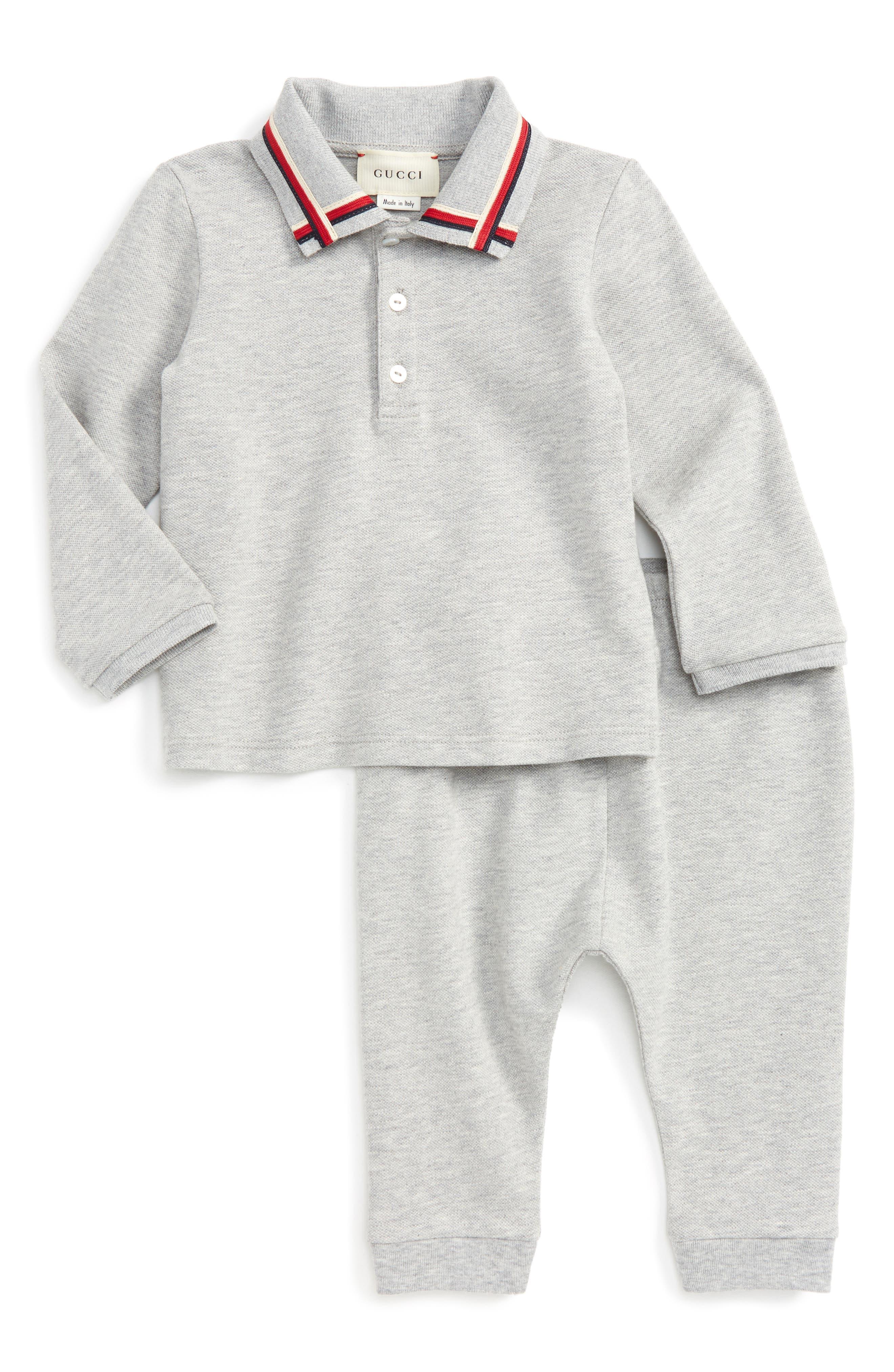Main Image - Gucci Polo & Pants Set (Baby Boy)