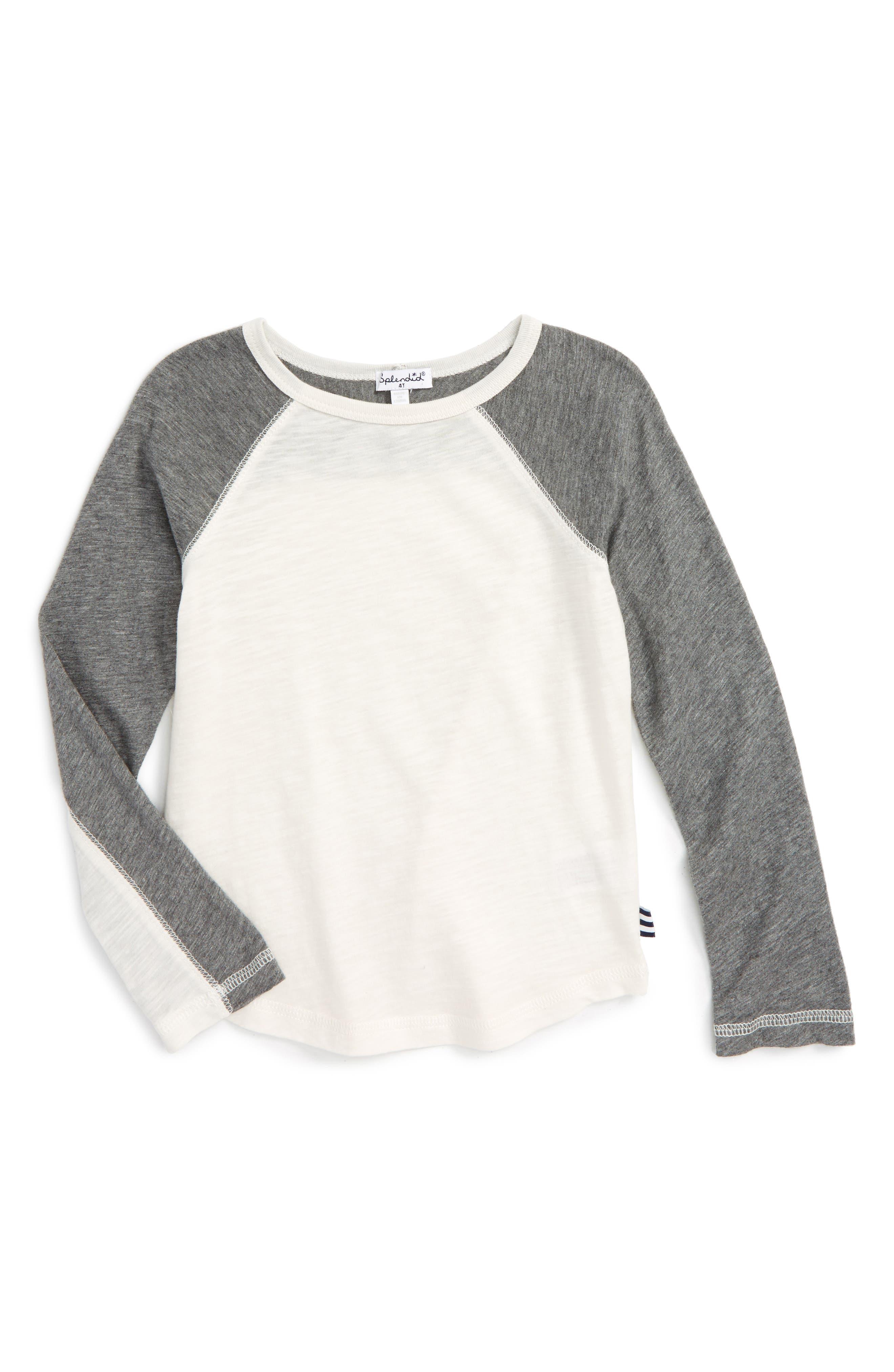 Slub Knit T-Shirt,                             Main thumbnail 1, color,                             Off White Grey