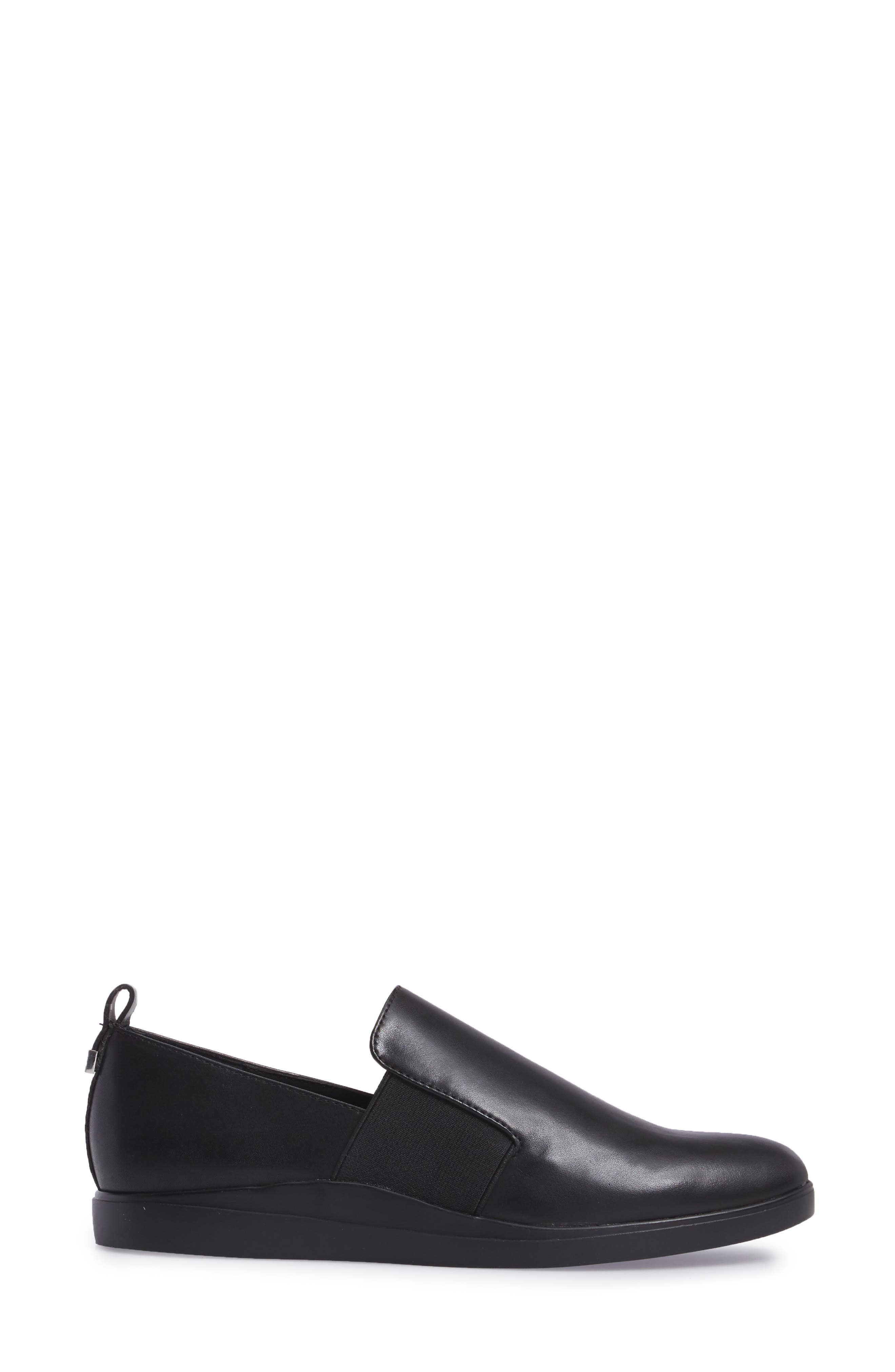 Shannin Loafer,                             Alternate thumbnail 3, color,                             Black Leather