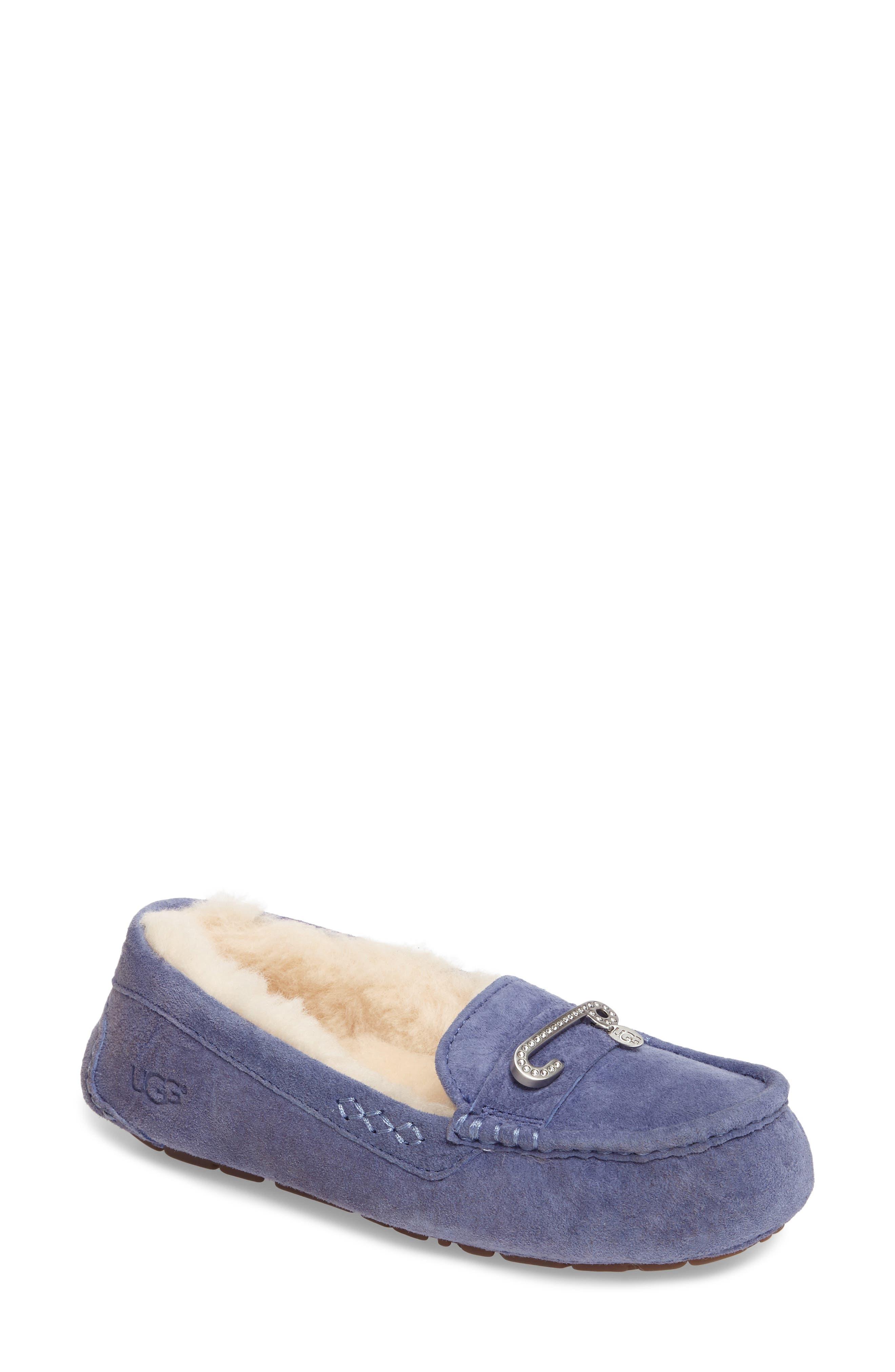 Alternate Image 1 Selected - UGG® Florencia Water Resistant Silkee™ Suede Slipper (Women)