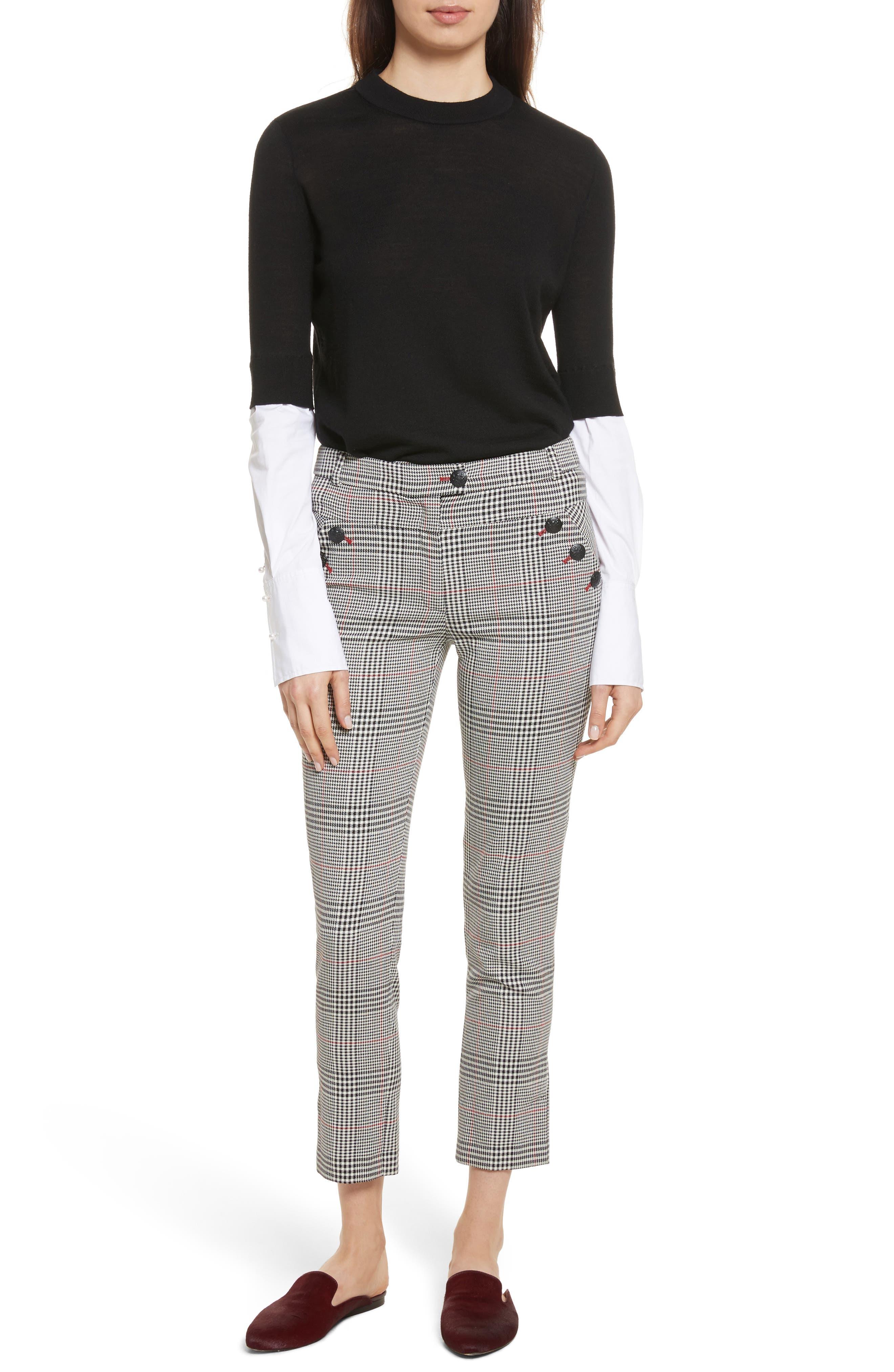 Farrow Pants,                             Alternate thumbnail 7, color,                             White/ Black/ Red