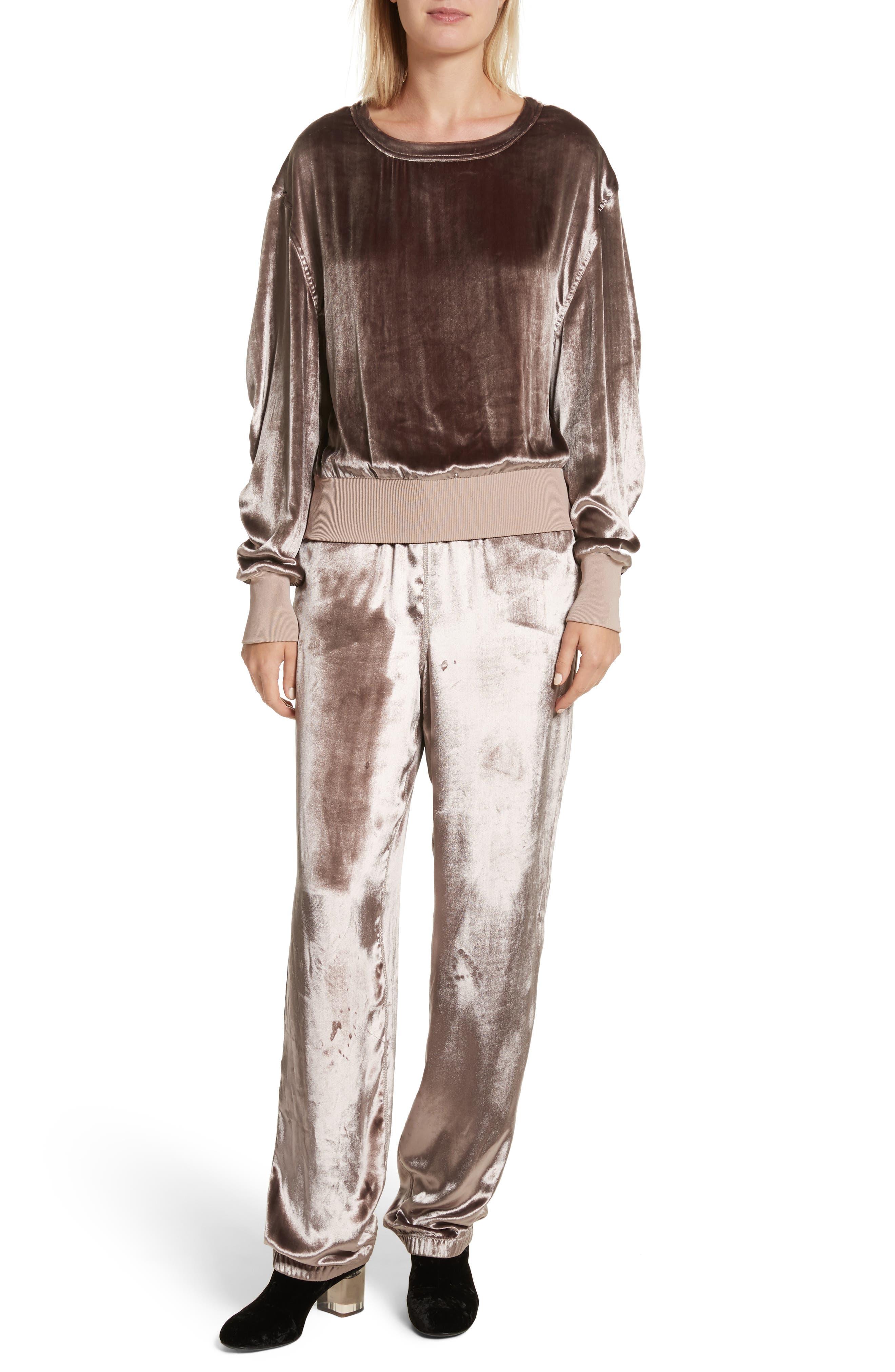 Alternate Image 2  - rag & bone Crushed Velvet Track Pants