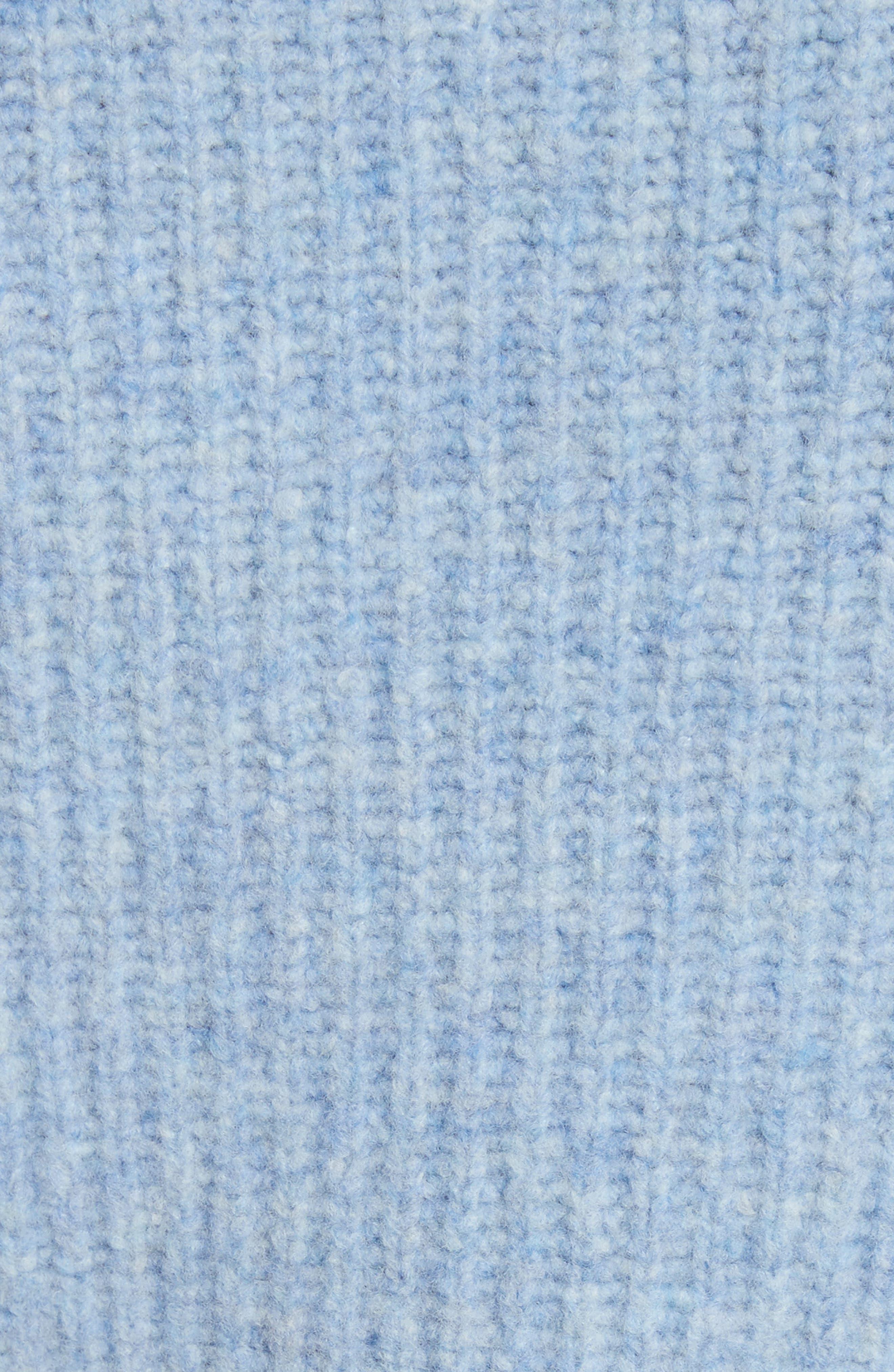 Francie Merino Wool Blend Sweater,                             Alternate thumbnail 5, color,                             Light Blue