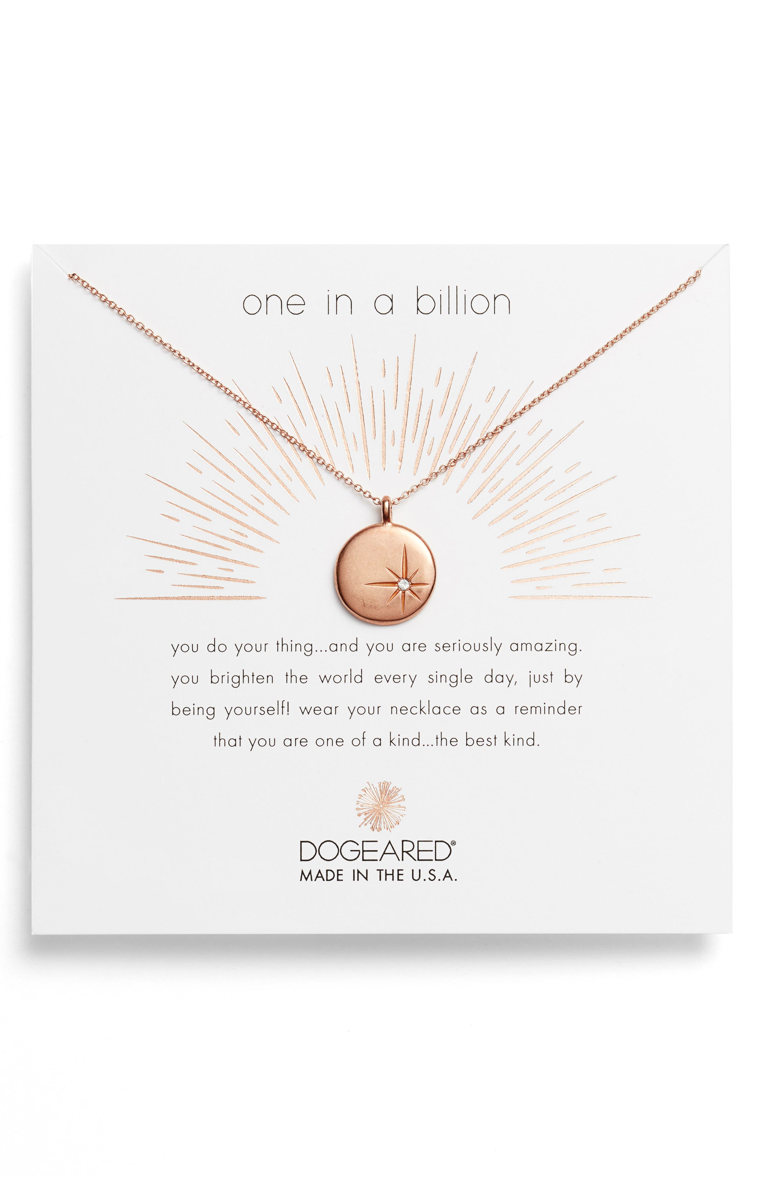 Main Image - Dogeared One in a Billion Pendant Necklace