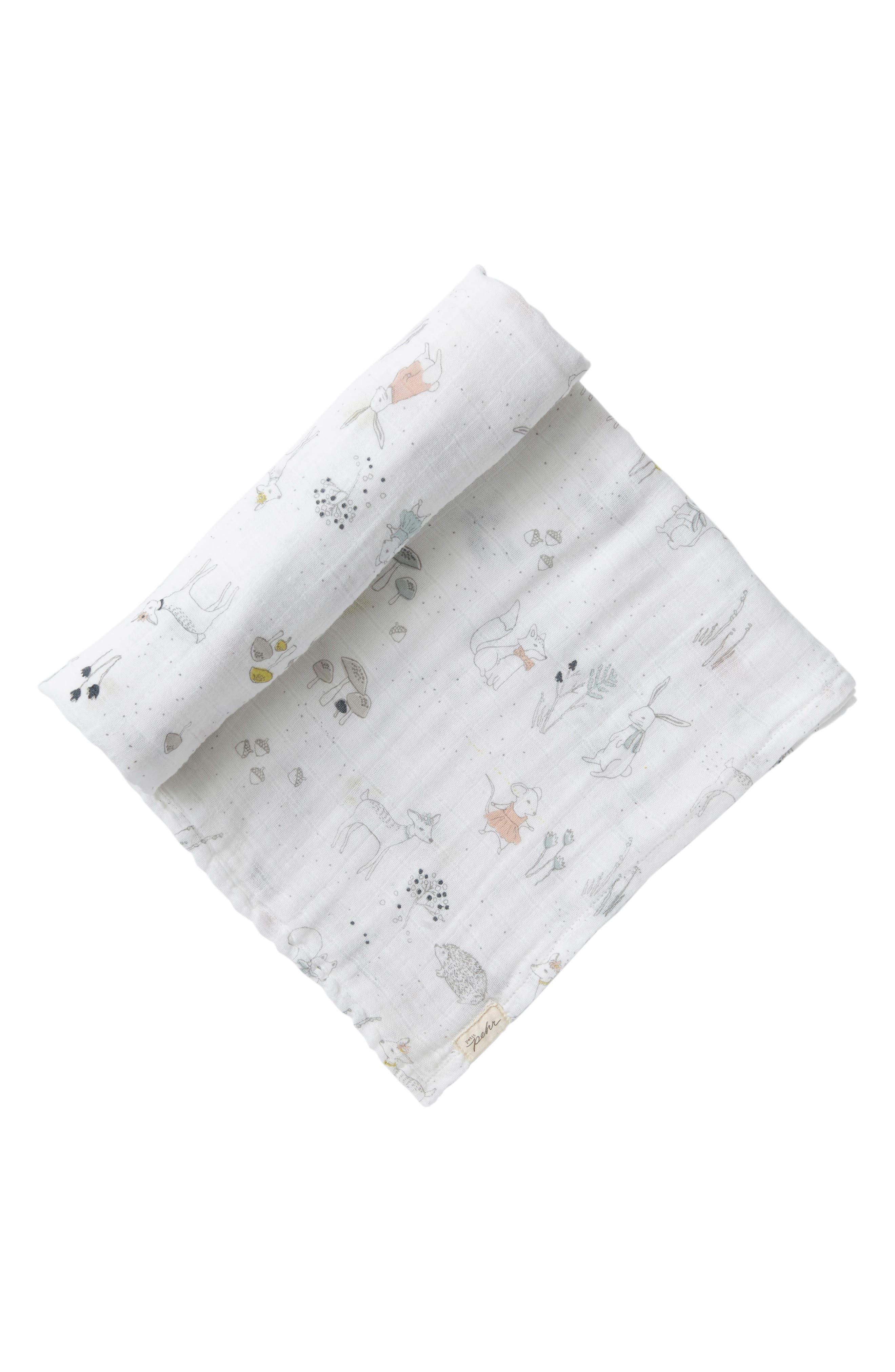Magical Forest Swaddle Blanket,                         Main,                         color, Grey