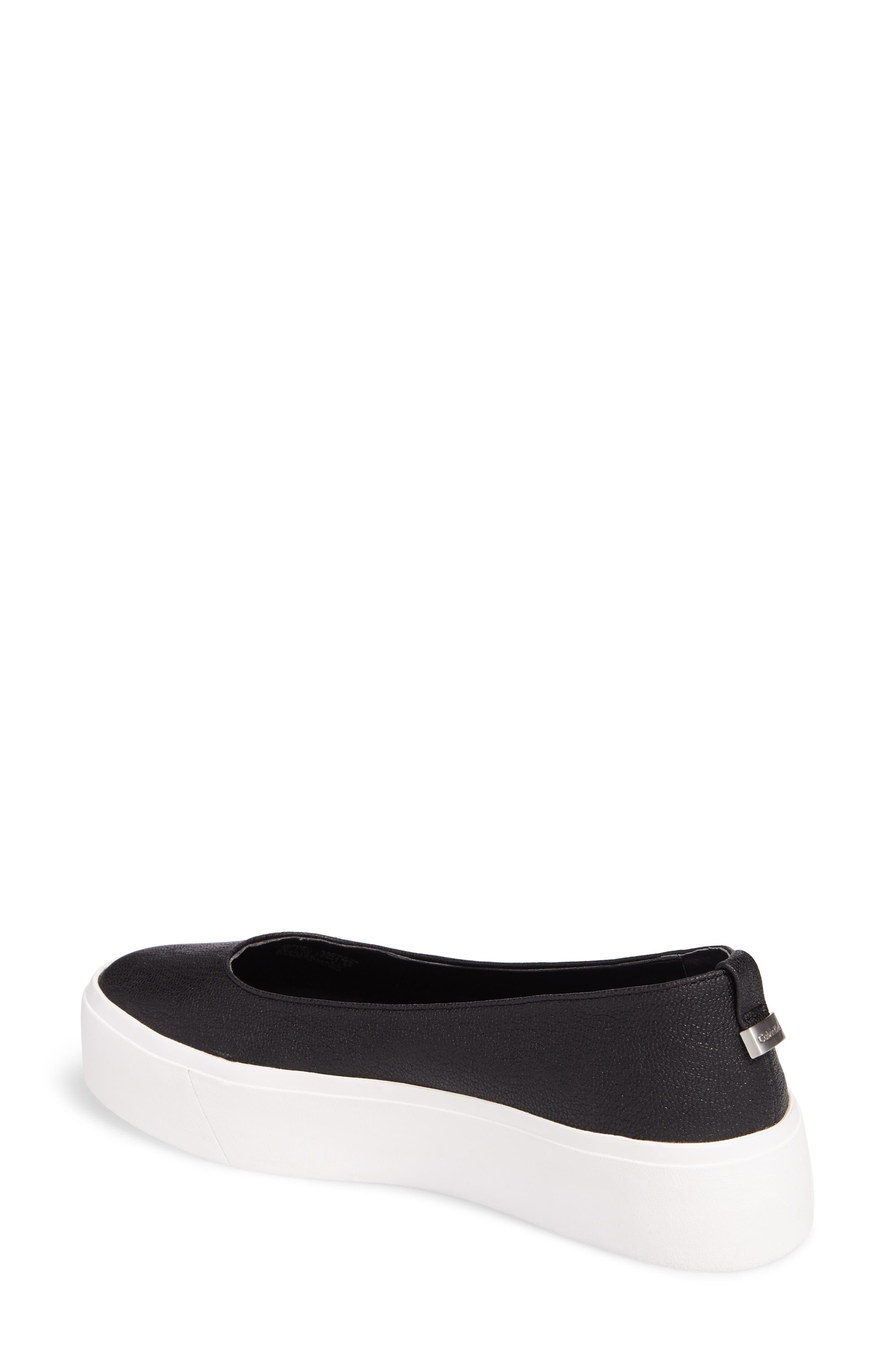 Janie Platform Flat,                             Alternate thumbnail 2, color,                             Black Pebble Leather