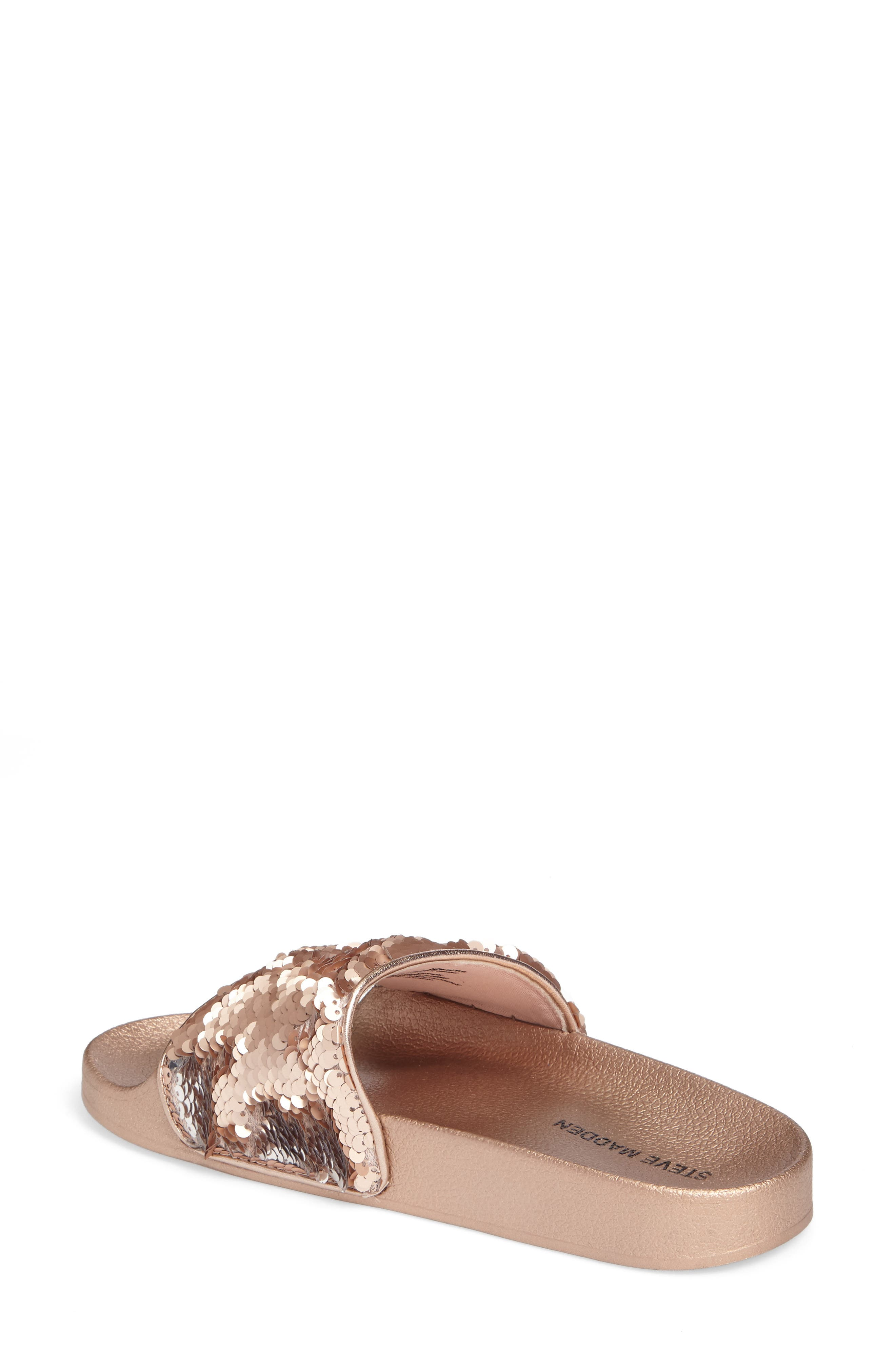 Alternate Image 2  - Steve Madden Softey Sequin Slide Sandal (Women)