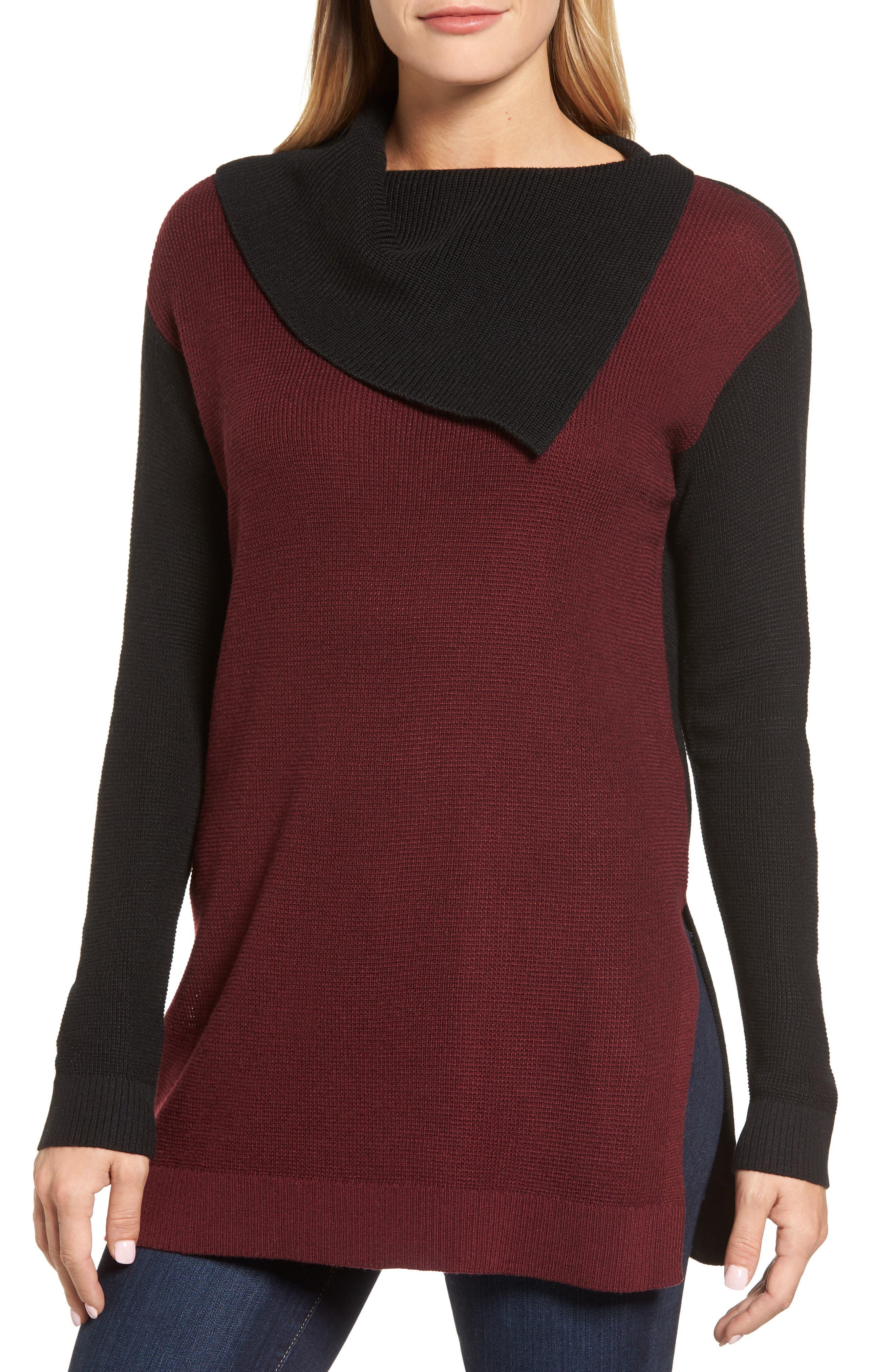 Vince Camuto Colorblock Sweater (Regular & Petite)