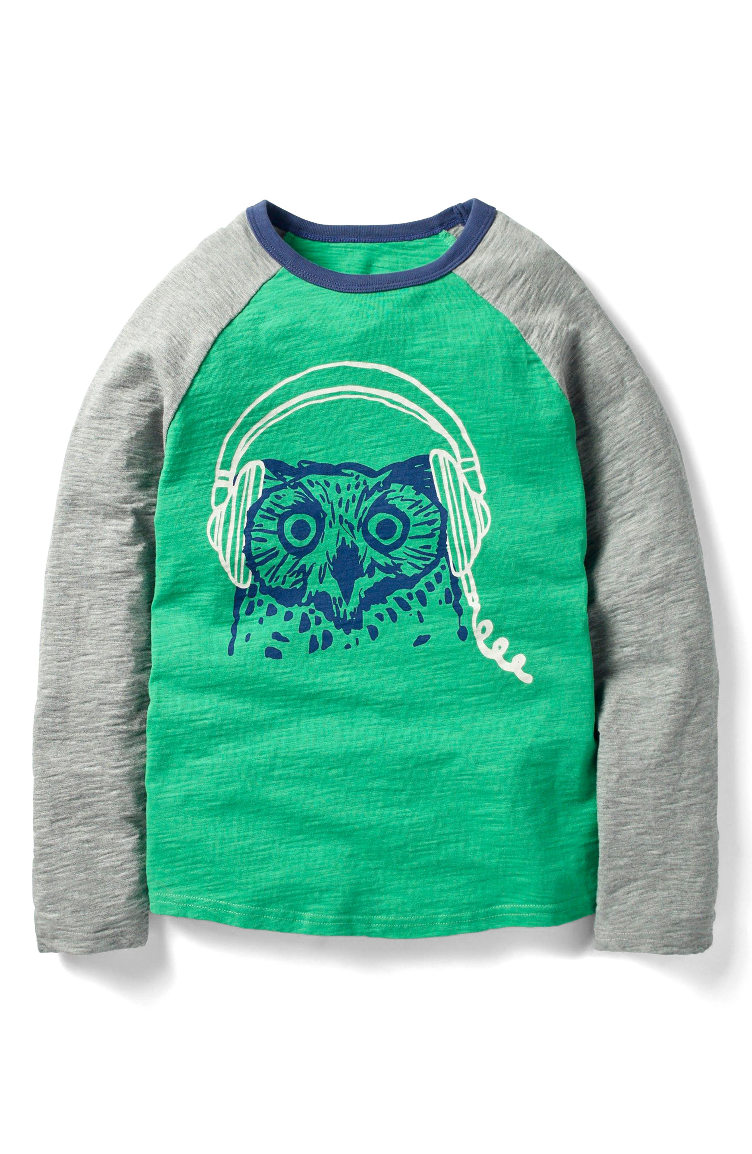 Mini Boden A Real Hoot Long Sleeve T-Shirt (Little Boys & Big Boys)