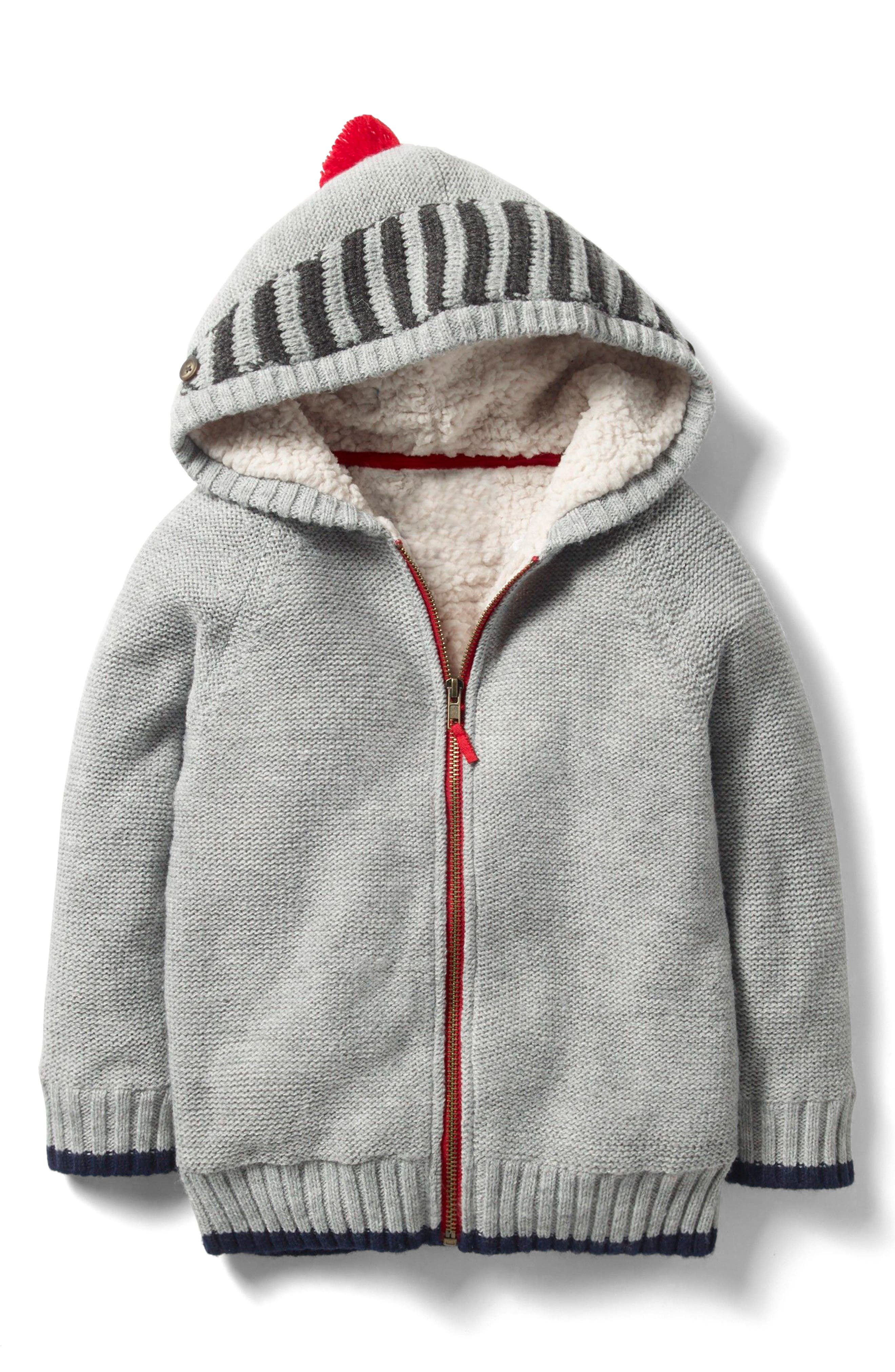 Shaggy Fleece Lined Hoodie,                             Main thumbnail 1, color,                             Grey Marl Knight