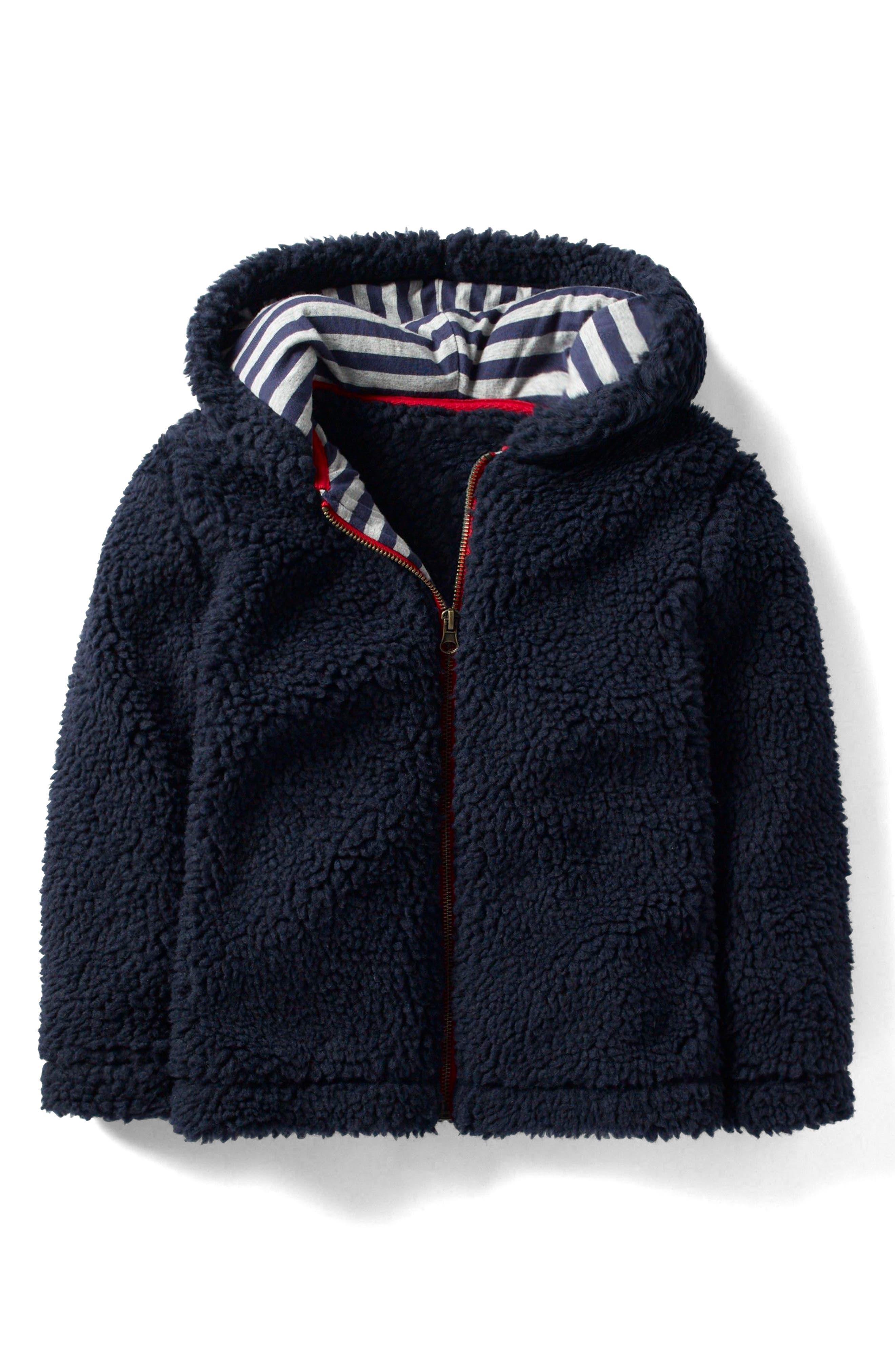 Mini Boden Hooded Fleece Jacket (Toddler Boys, Little Boys & Big Boys)