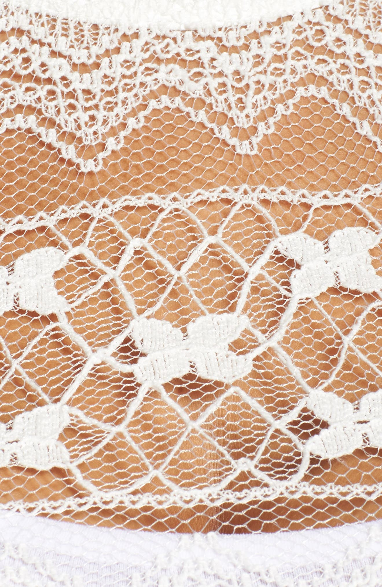 Lace Top,                             Alternate thumbnail 4, color,                             White
